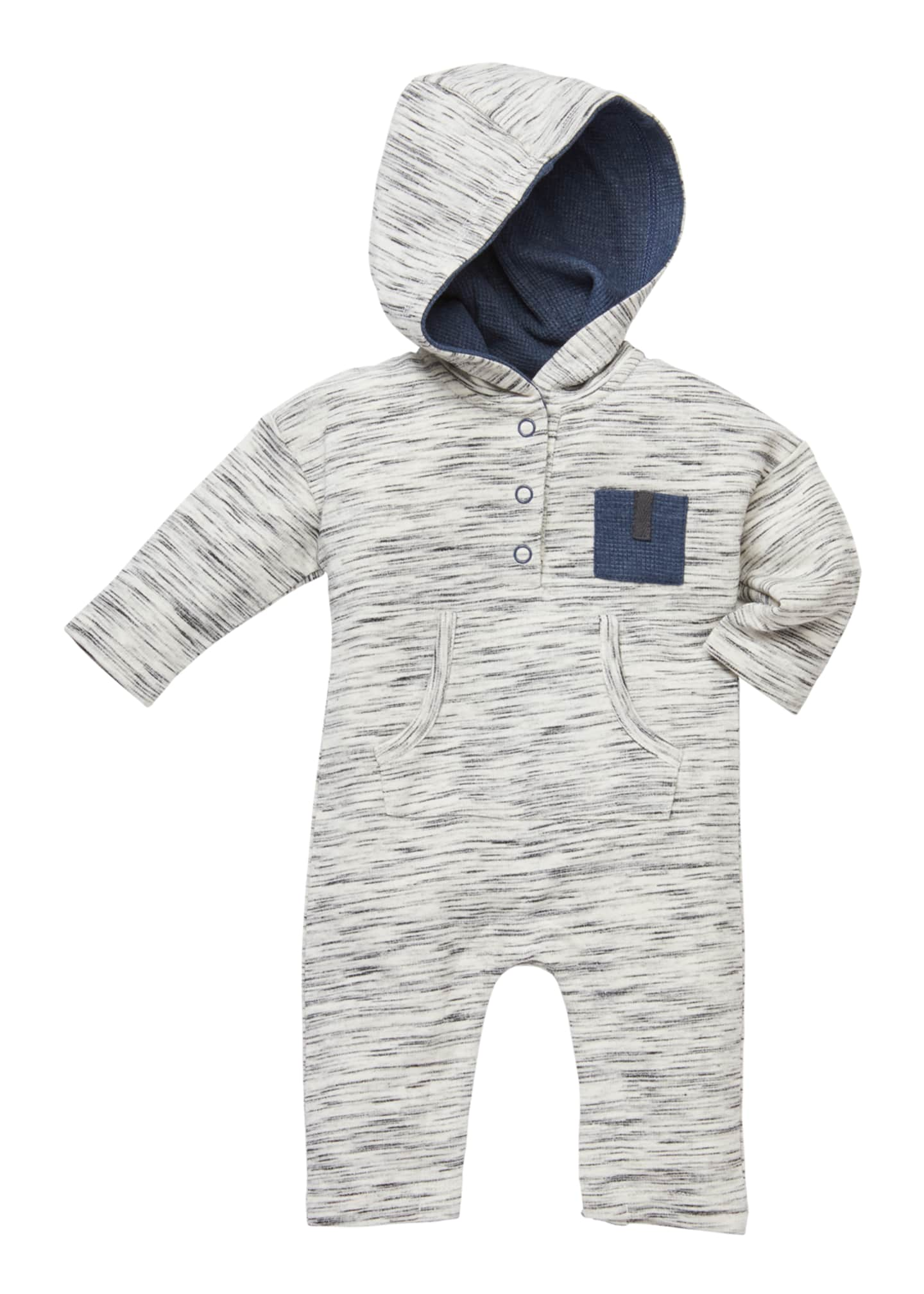 Miniclasix Heathered Hooded Coverall, Size 3-9 Months