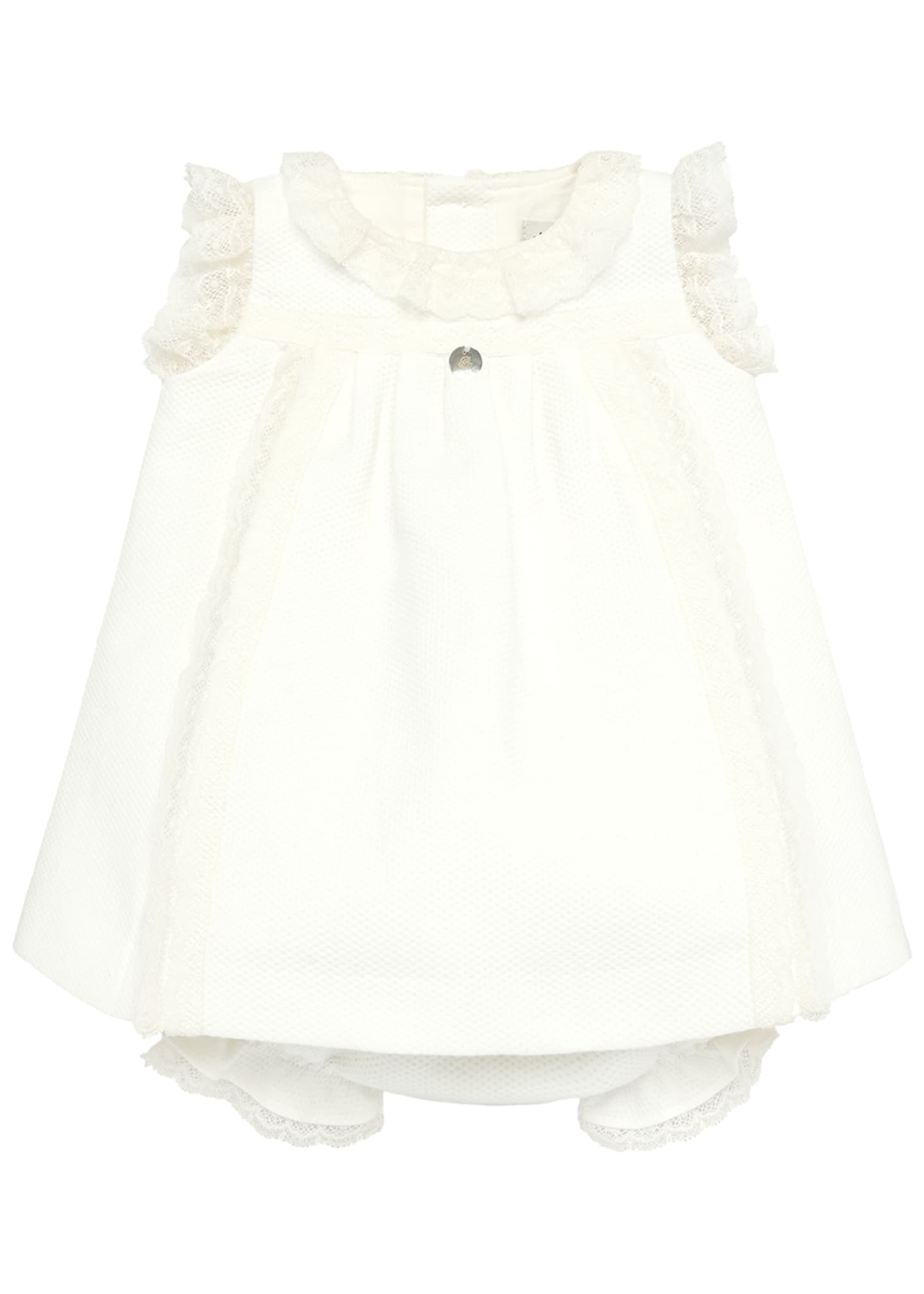 Pili Carrera Lace Trim Sleeveless Dress w/ Bloomers,