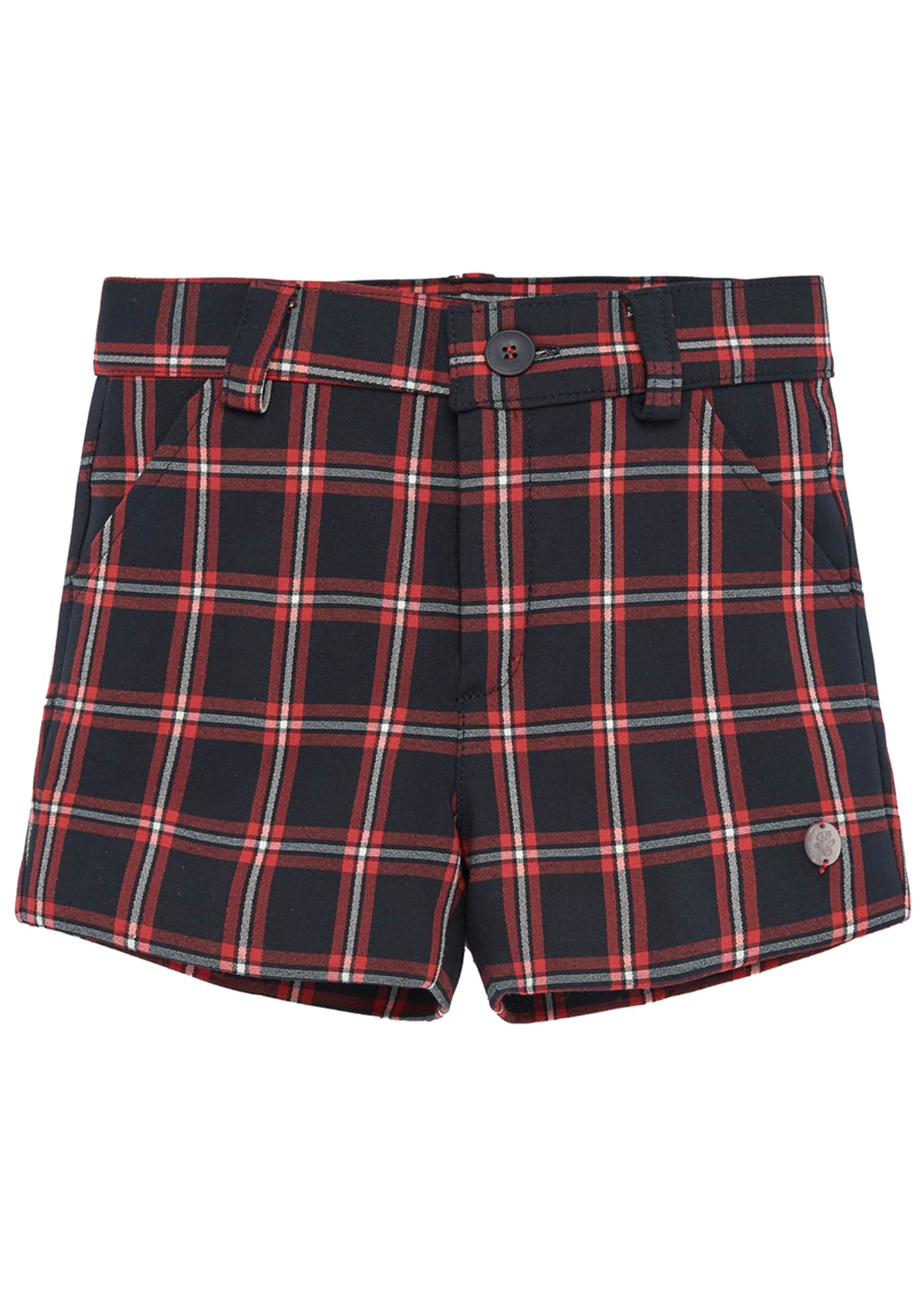 Image 1 of 3: Boy's Check Shorts, Size 2-4