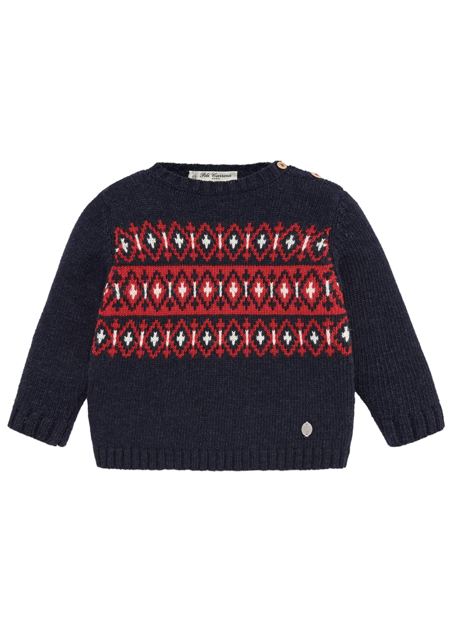 Pili Carrera Fair Isle Knit Sweater, Size 2-4