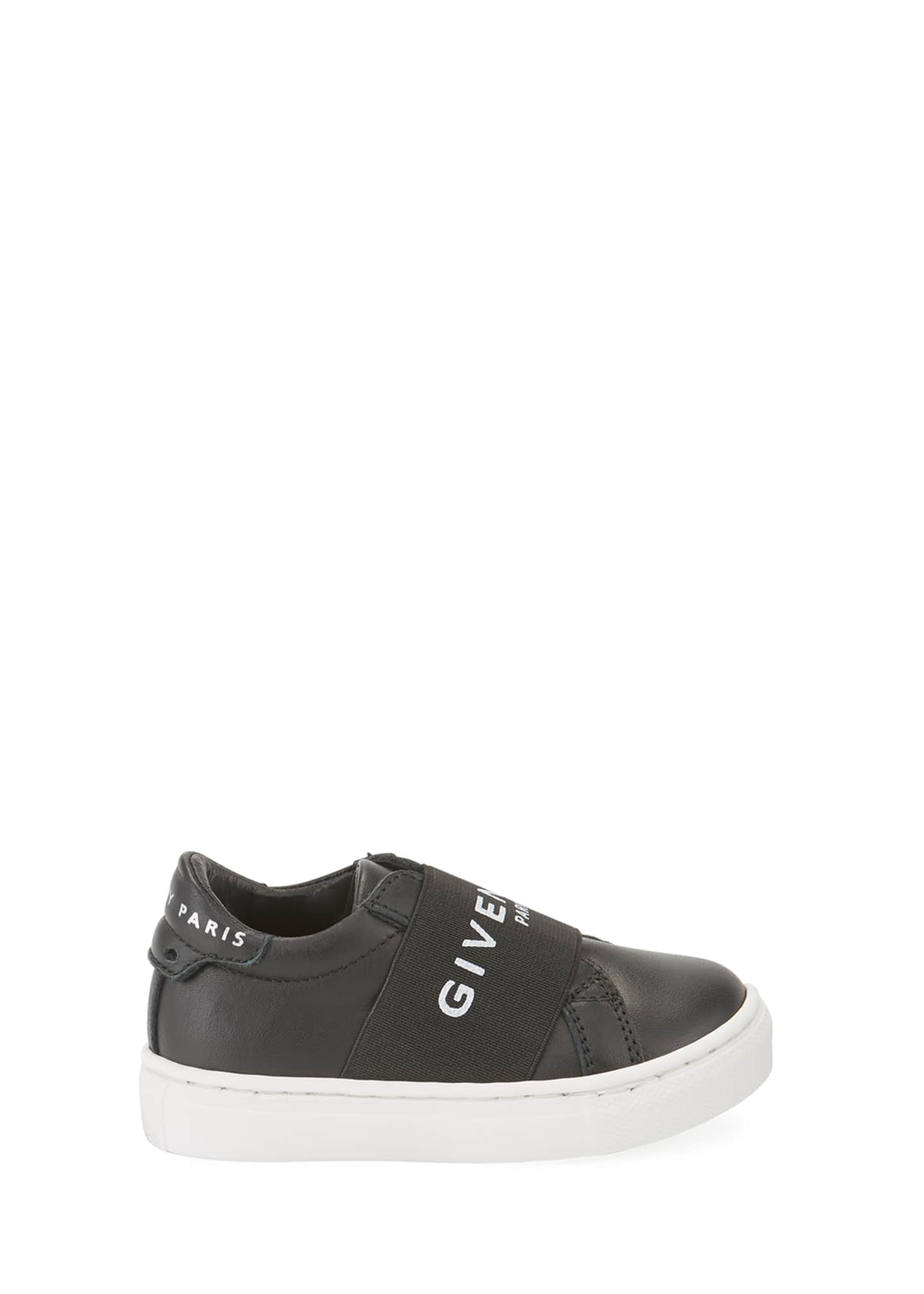 Givenchy Logo Band Leather Sneakers, Baby