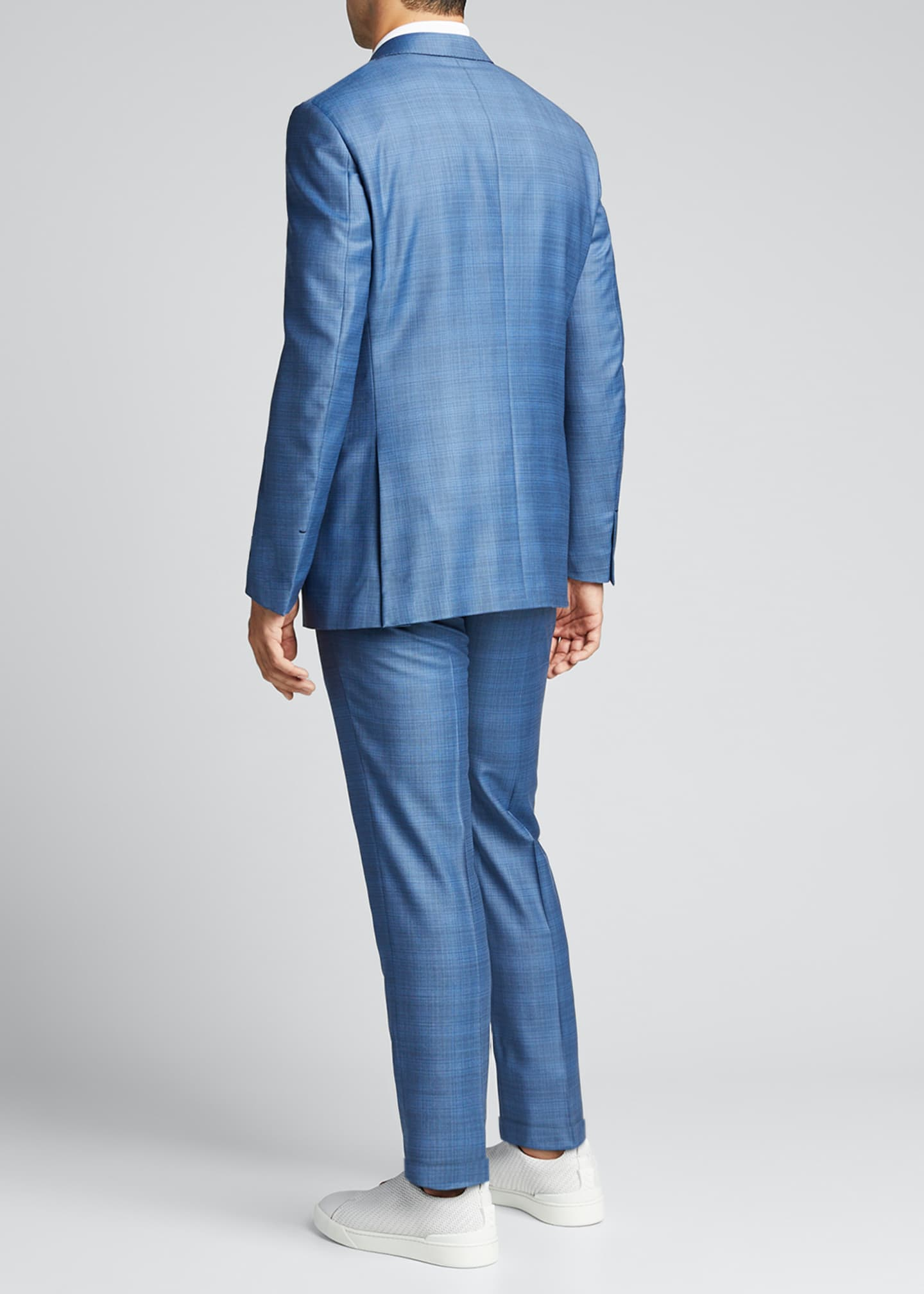 Image 2 of 5: Men's Plaid Two-Piece Regular-Fit Wool Suit