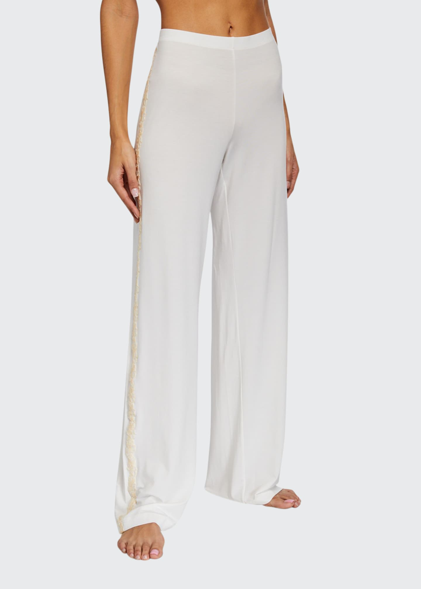 Image 1 of 2: Brenda Lace-Trim Long Pants
