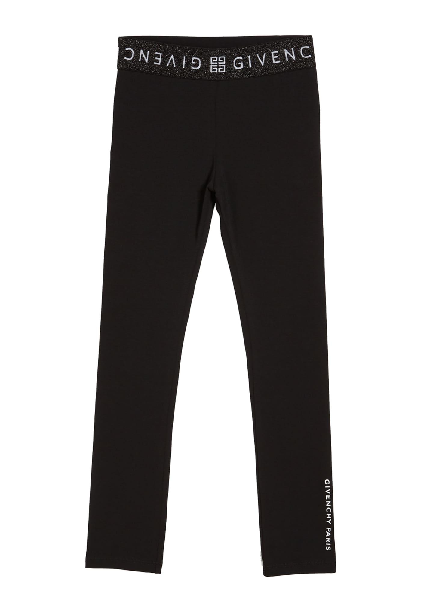 Givenchy Girl's Logo Trim Lounge Pants, Size 12-14