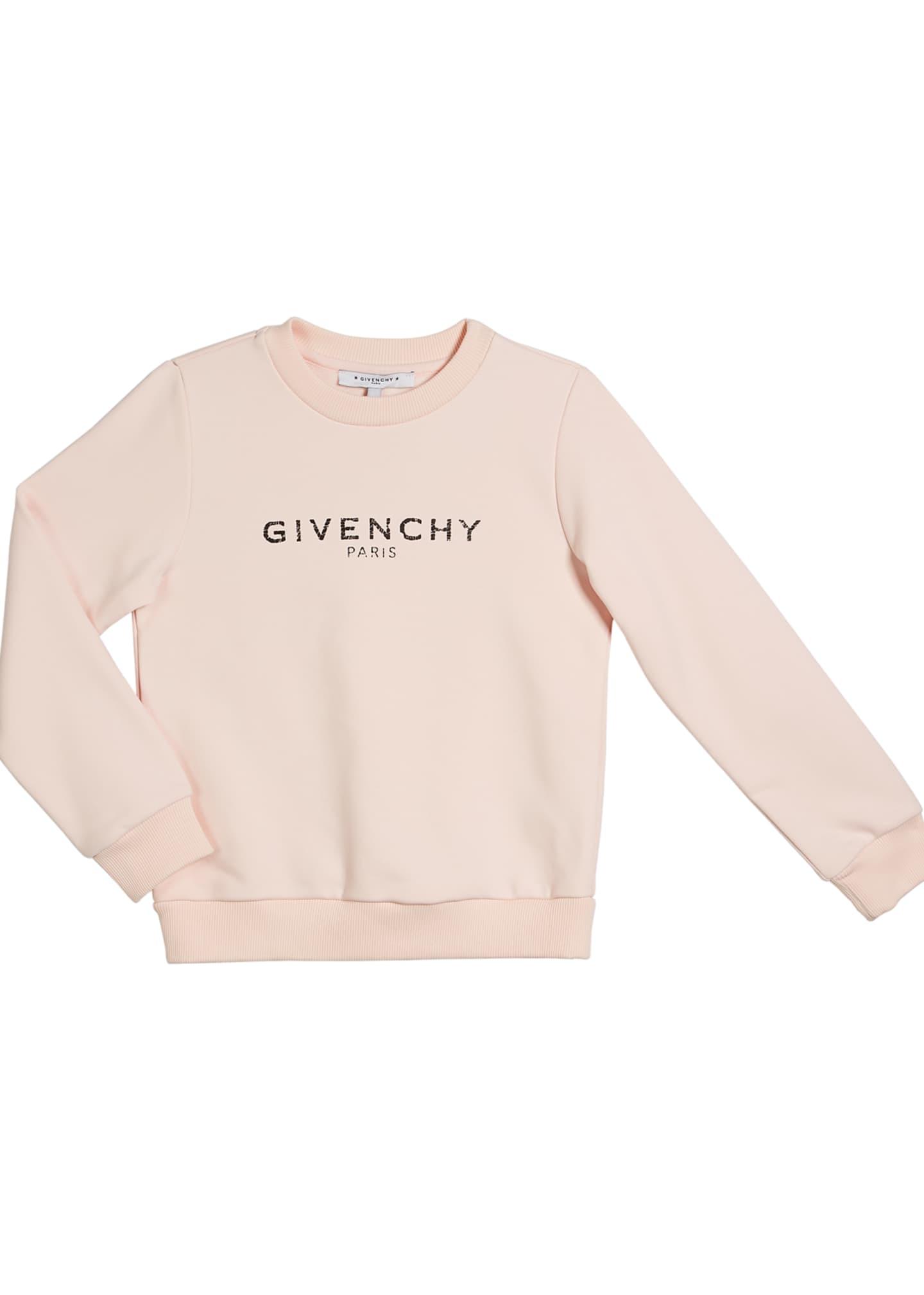 Givenchy Girl's Logo Sweatshirt, Size 4-10
