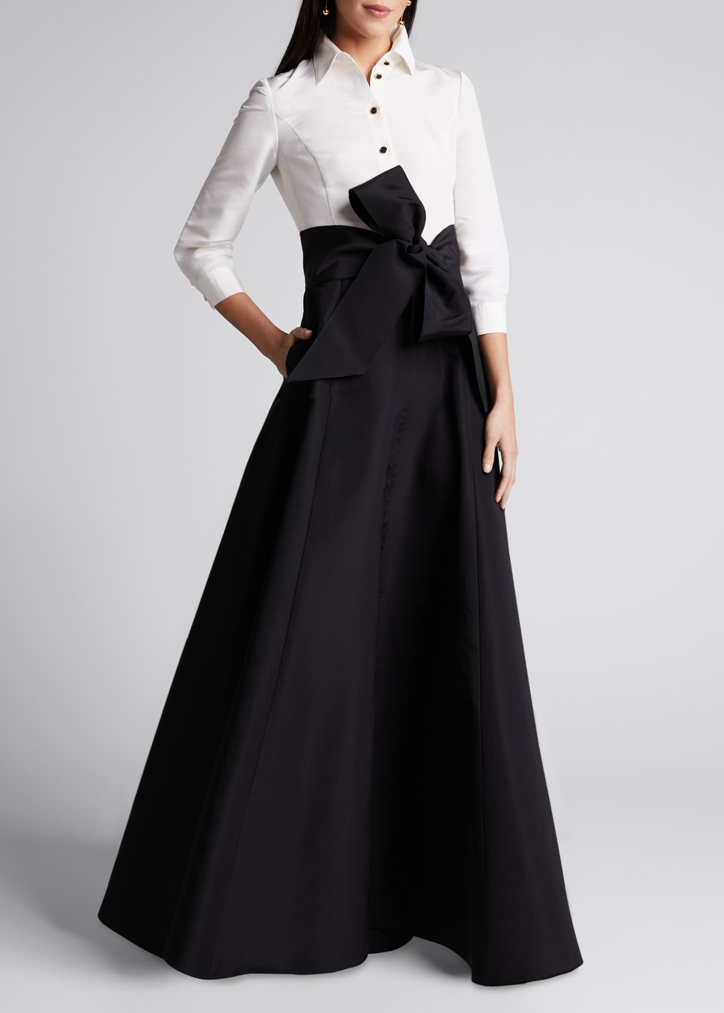 Image 3 of 5: Icon Two-Tone Trench Gown