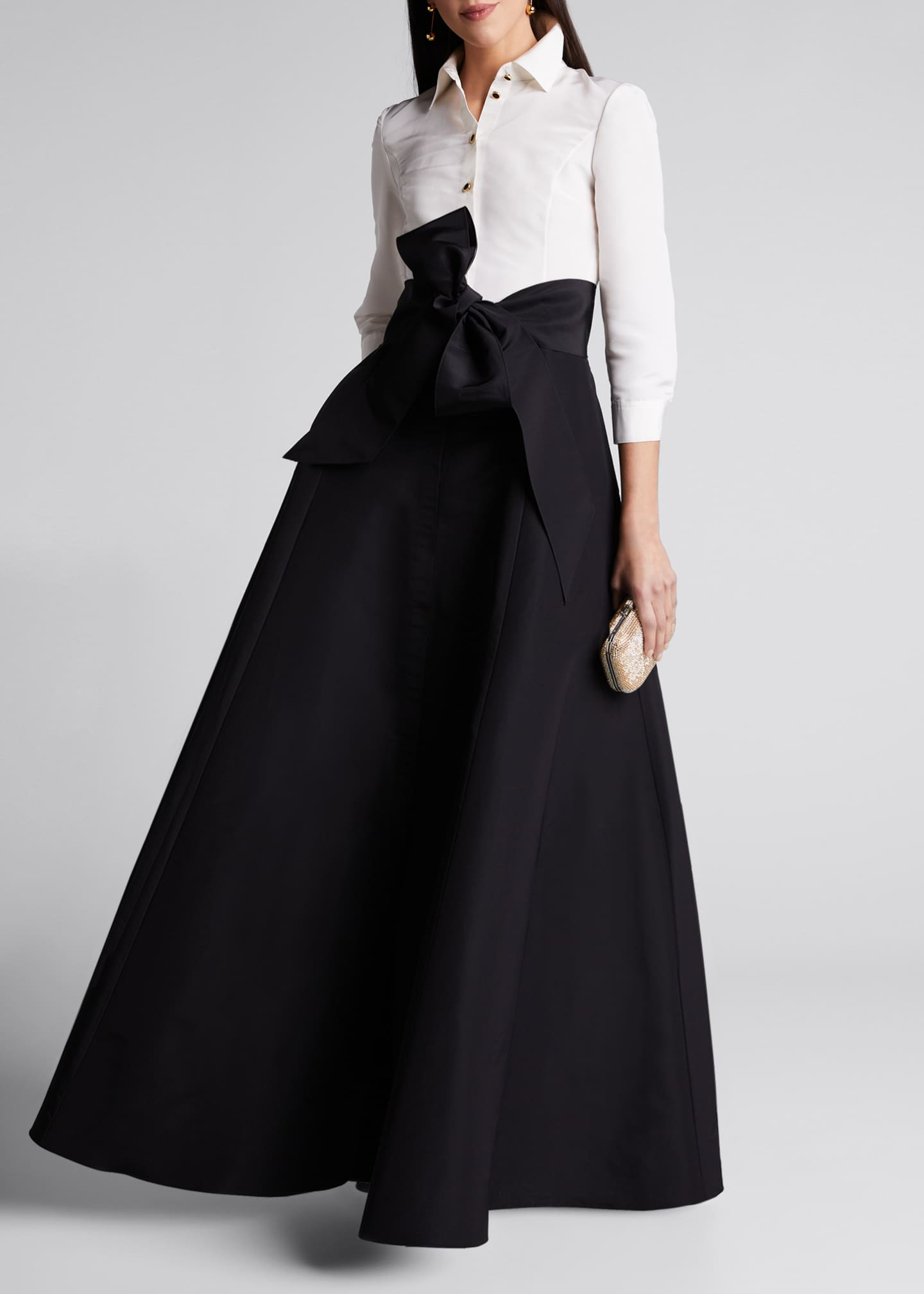 Image 1 of 5: Icon Two-Tone Trench Gown