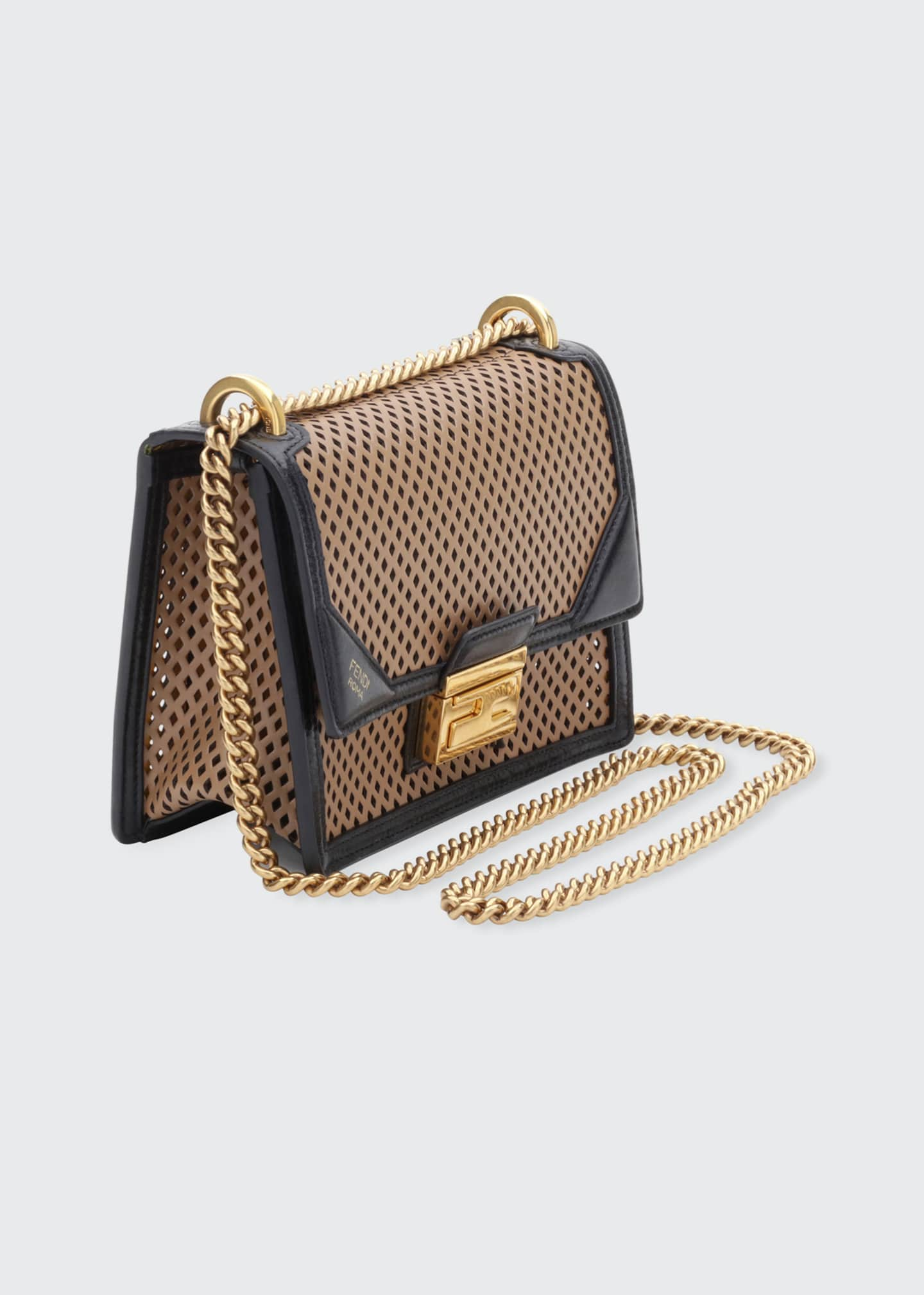 Image 3 of 4: Kan U Small Perforated Leather Crossbody Bag