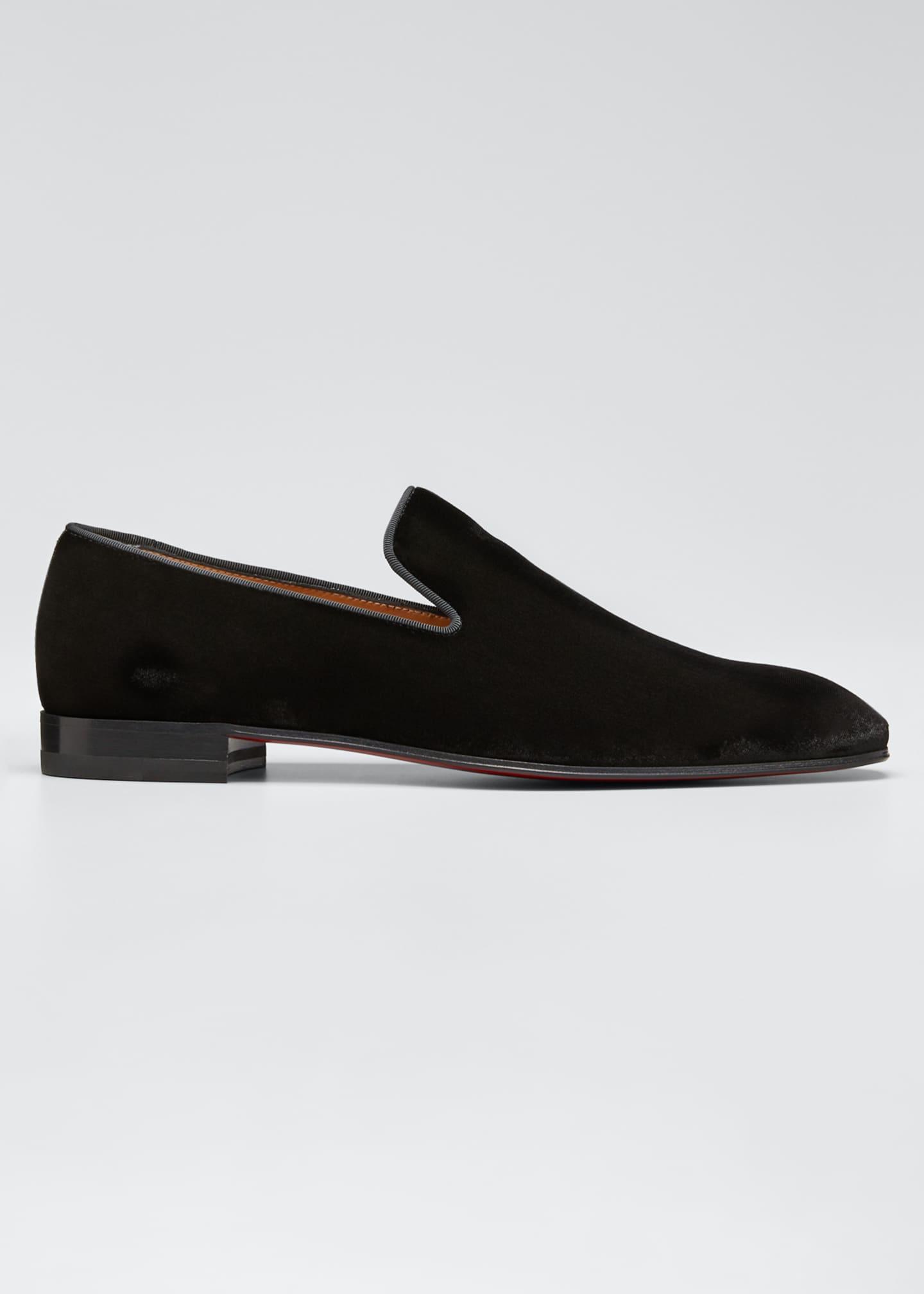 Christian Louboutin Men's Dandelion Velvet Loafers