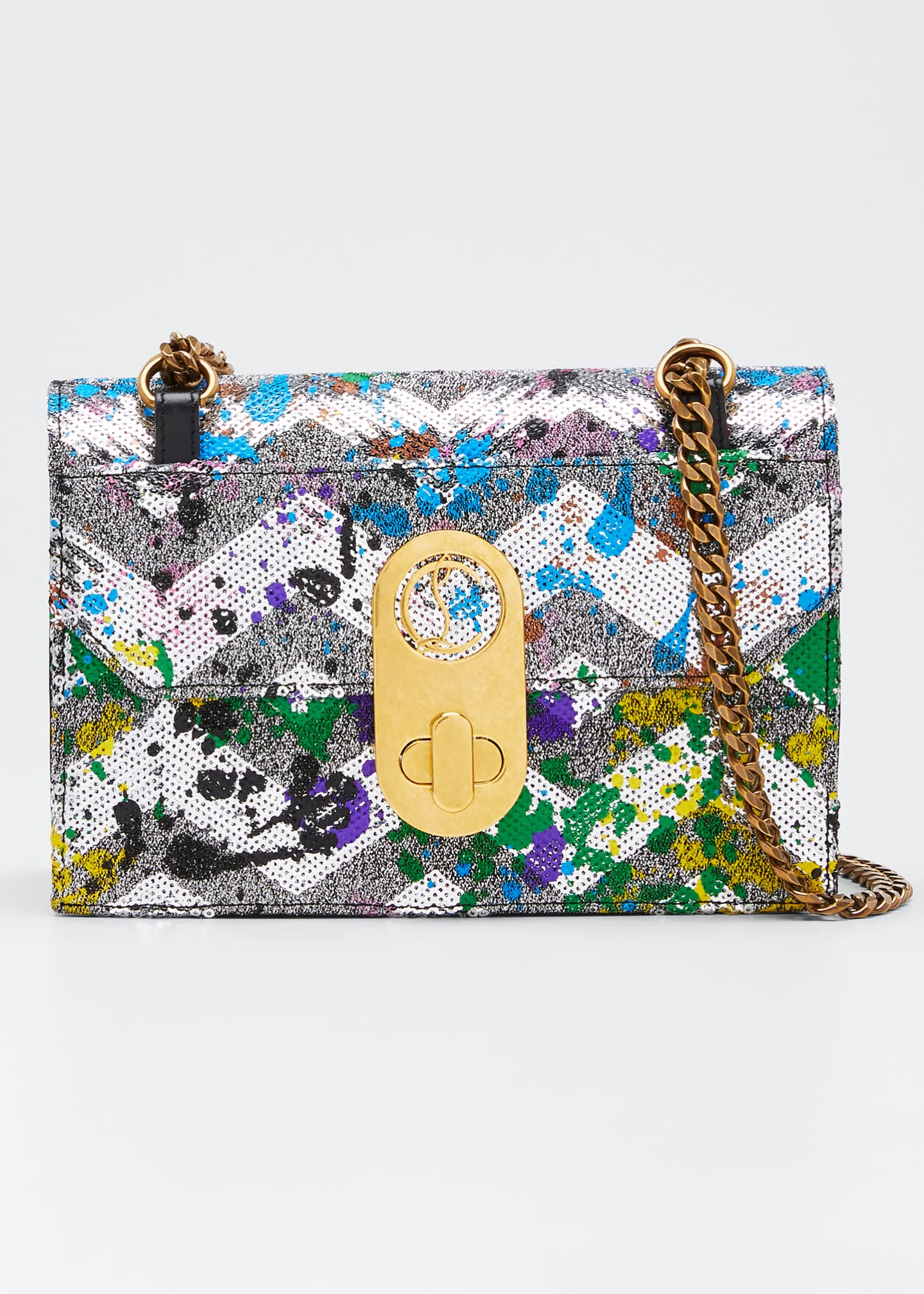 Christian Louboutin Elisa Small Paillette Splash Shoulder Bag