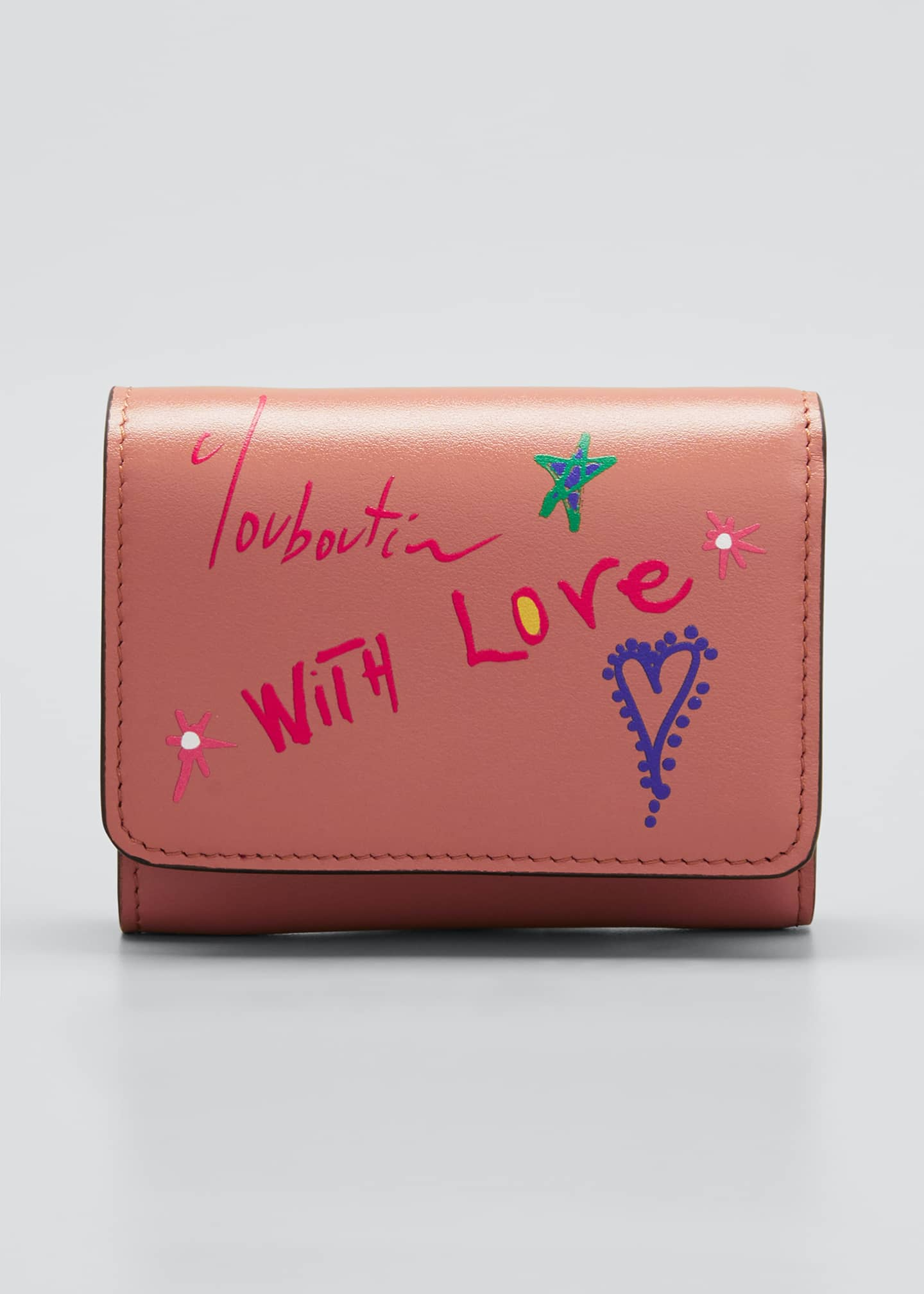 Image 1 of 4: With Love Script Leather Wallet