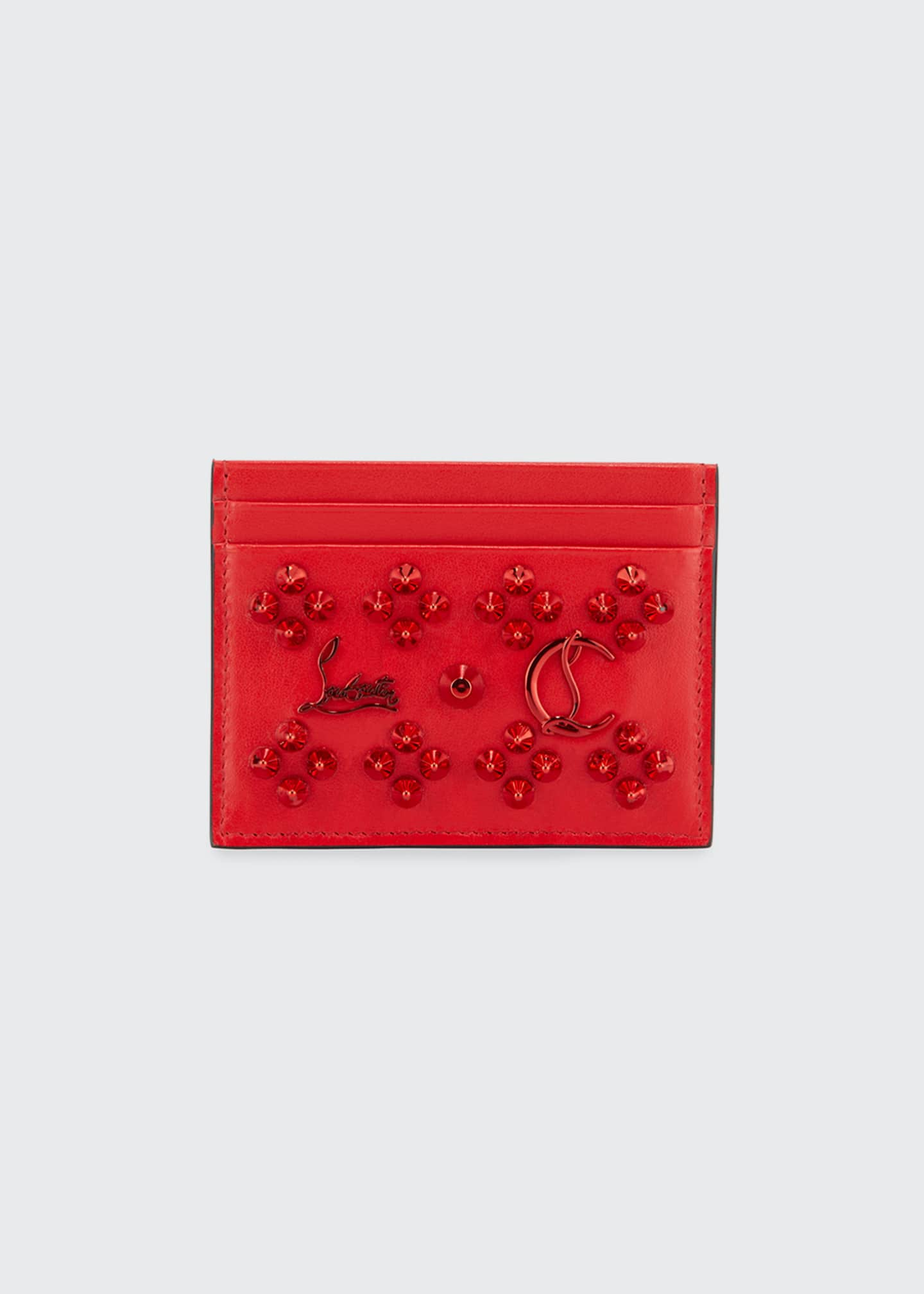 Christian Louboutin Kios Jeweled Leather Card Case