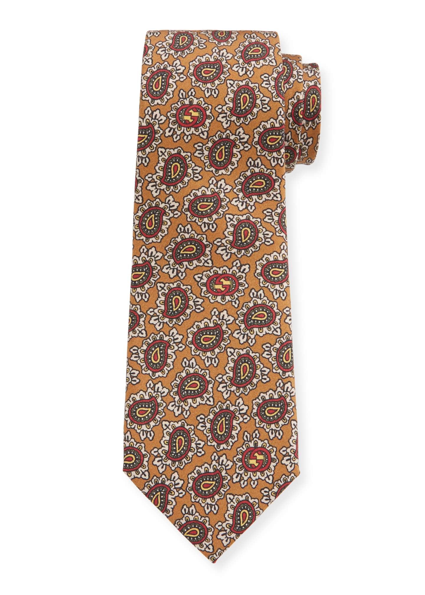 Gucci Paisley Silk Scarf Tie