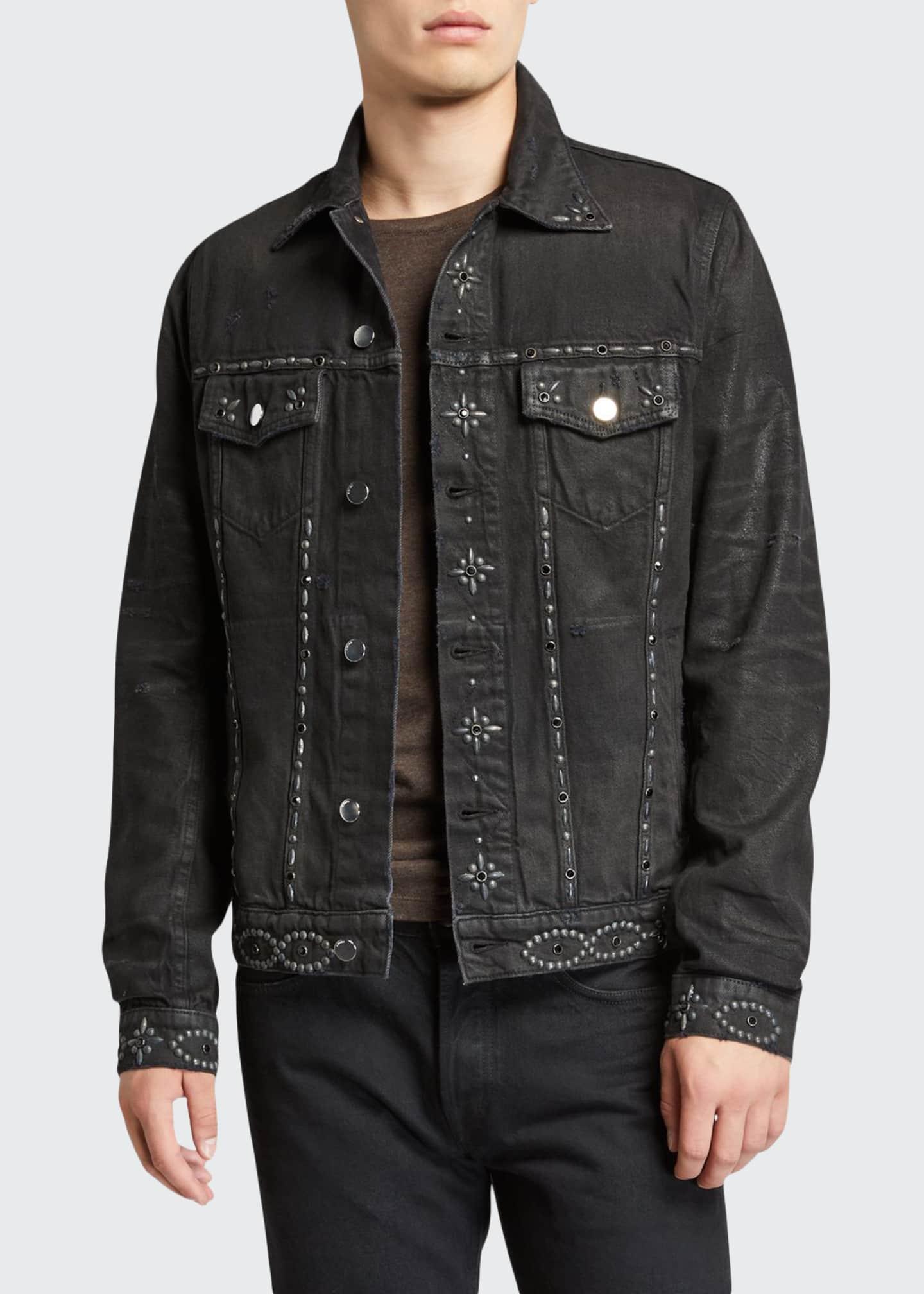 Amiri Men's Studded Denim Jacket