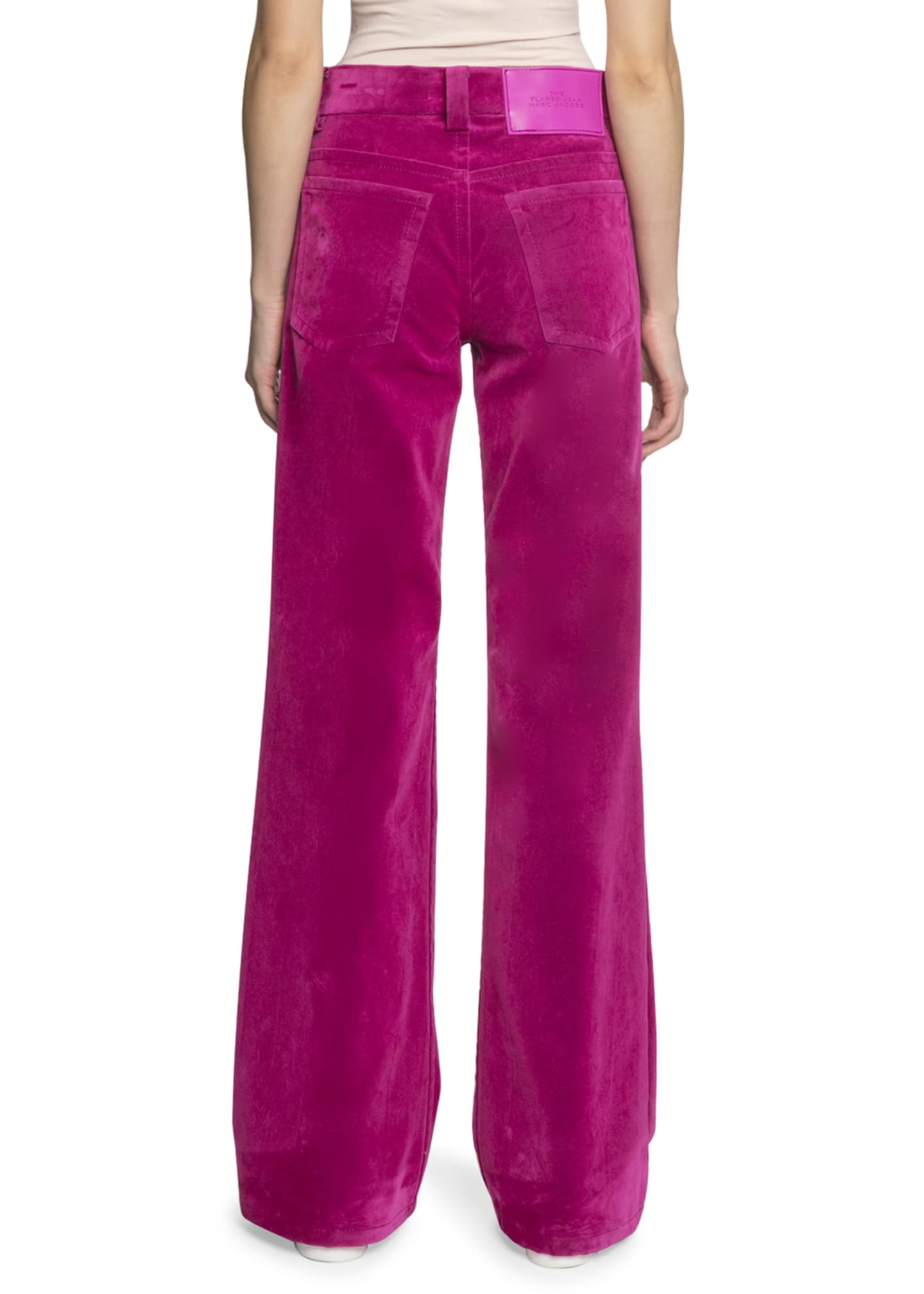Image 2 of 2: The Velveteen Flared Jeans