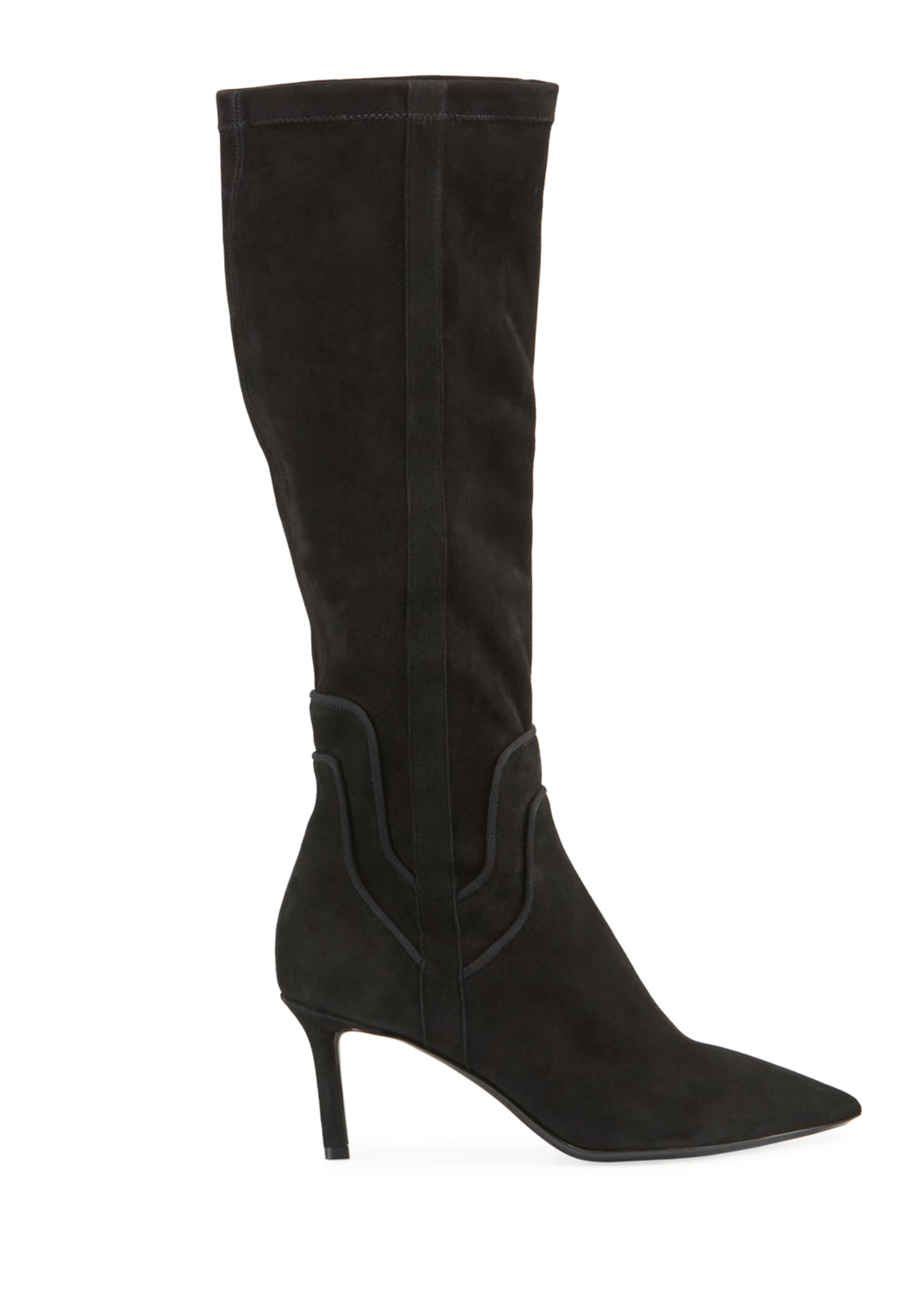 Image 2 of 3: Mariel Suede Knee Boots