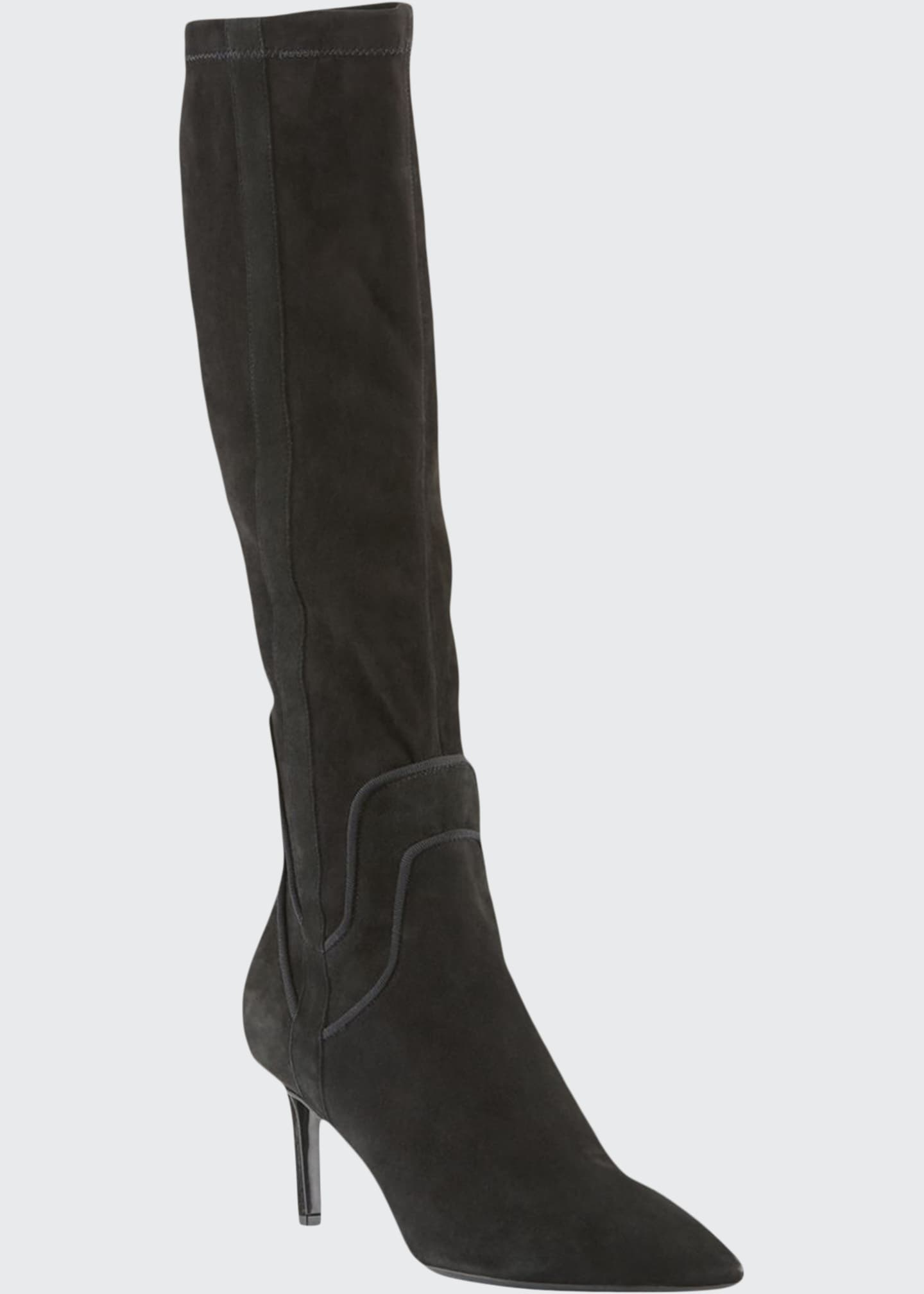 Image 1 of 3: Mariel Suede Knee Boots