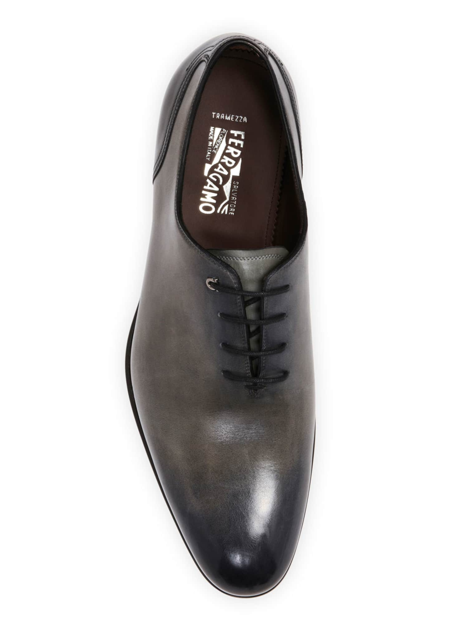 Image 2 of 4: Men's Barclay Burnished Leather Oxford Shoes