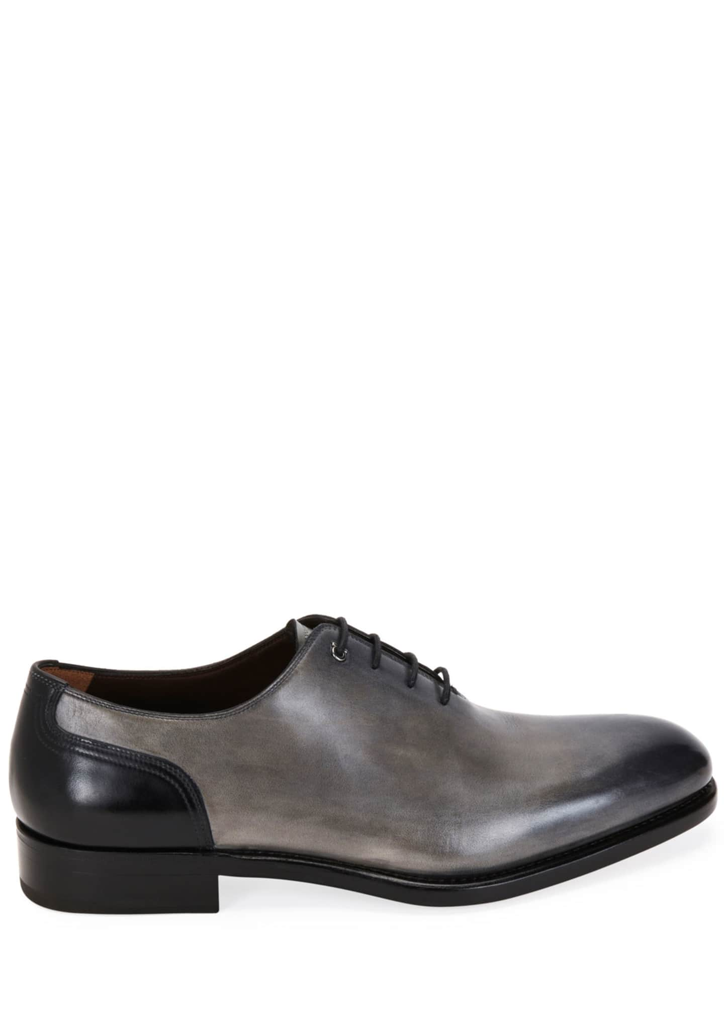 Image 3 of 4: Men's Barclay Burnished Leather Oxford Shoes