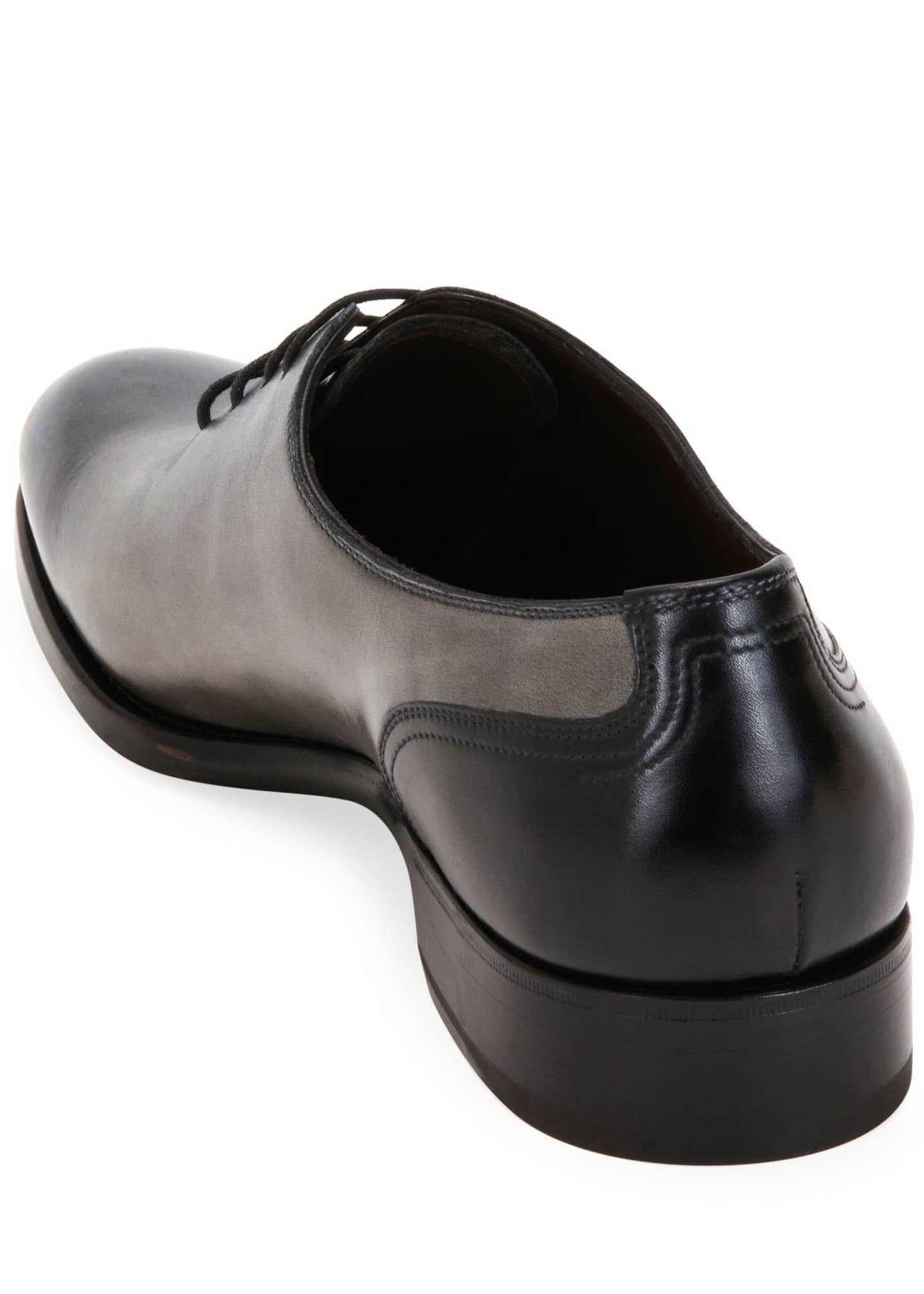 Image 4 of 4: Men's Barclay Burnished Leather Oxford Shoes