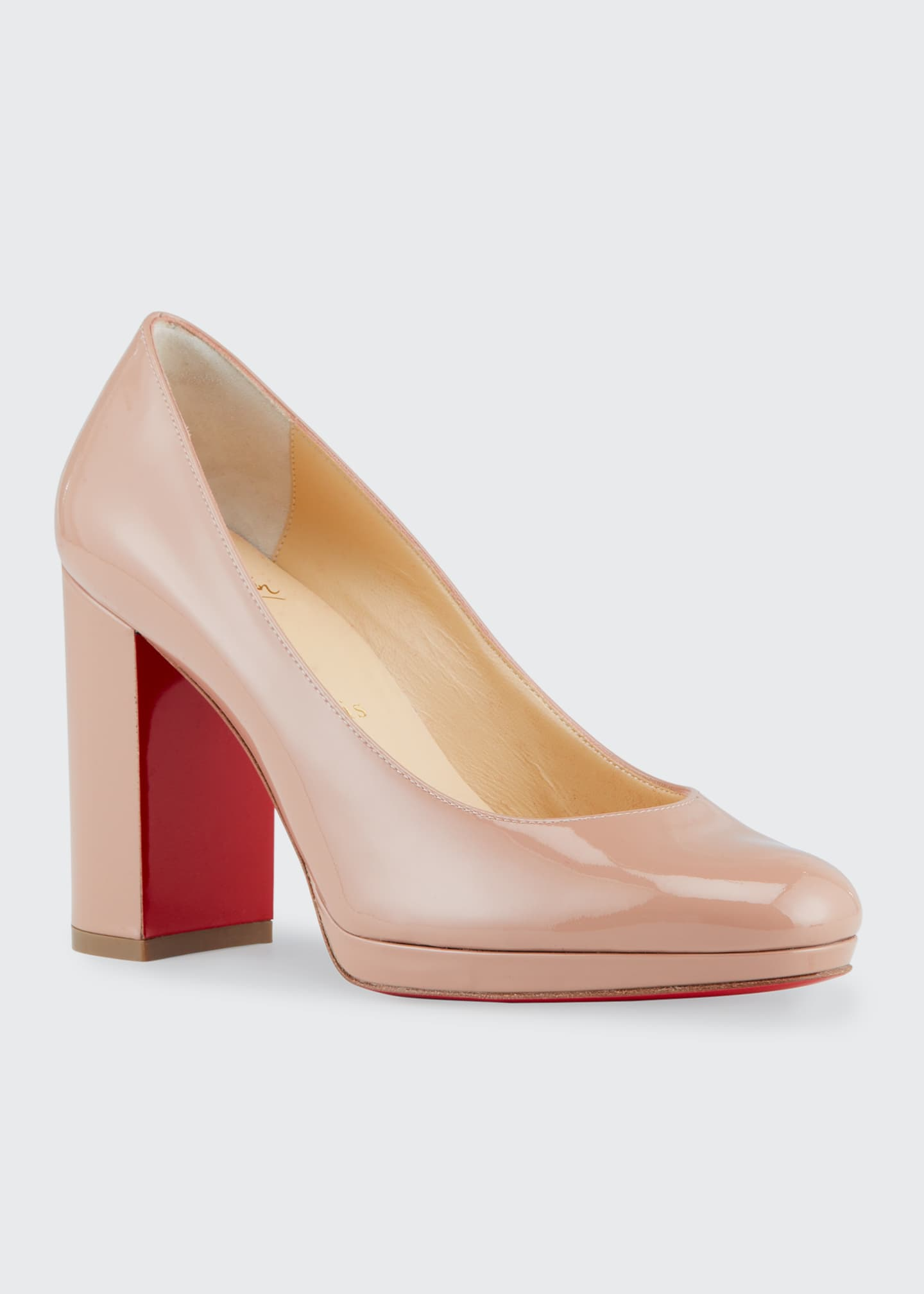 Image 2 of 4: Kabetts Patent Red Sole Pumps