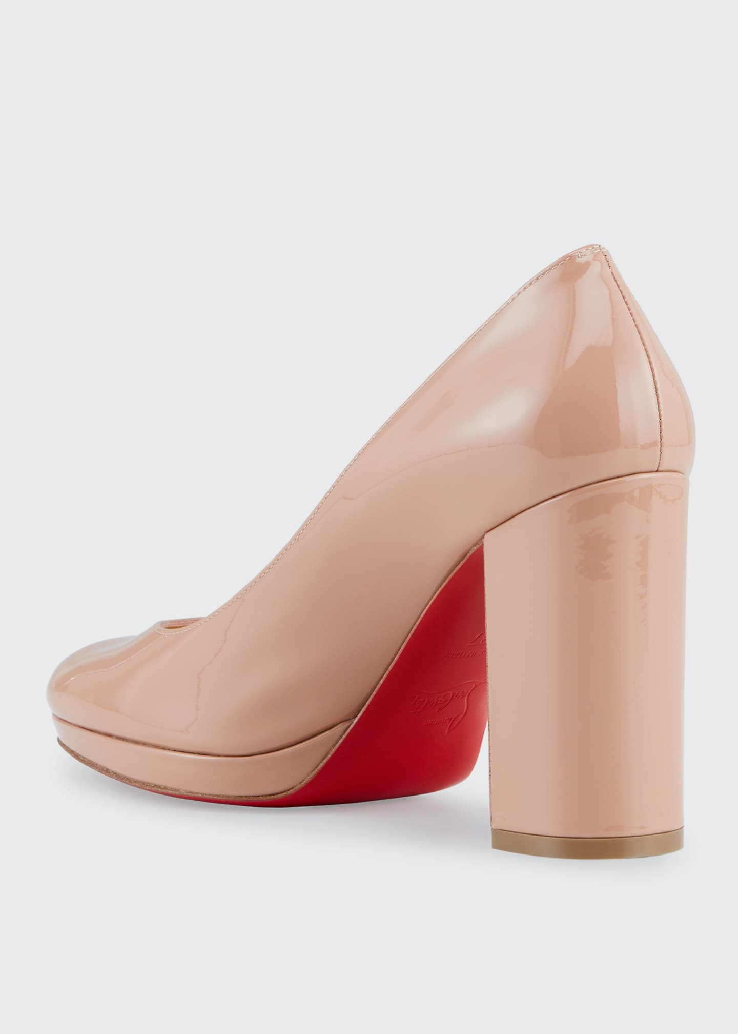 Image 3 of 4: Kabetts Patent Red Sole Pumps
