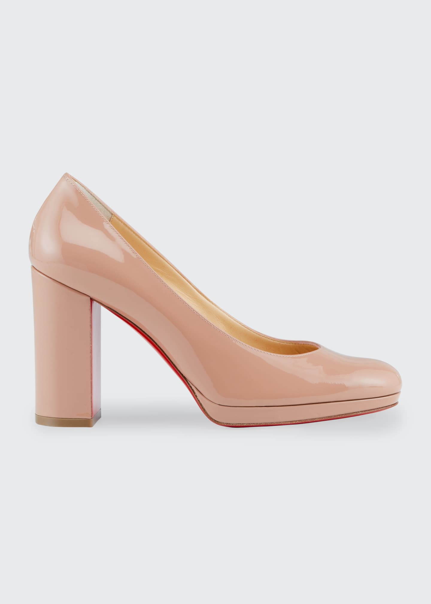 Image 1 of 4: Kabetts Patent Red Sole Pumps