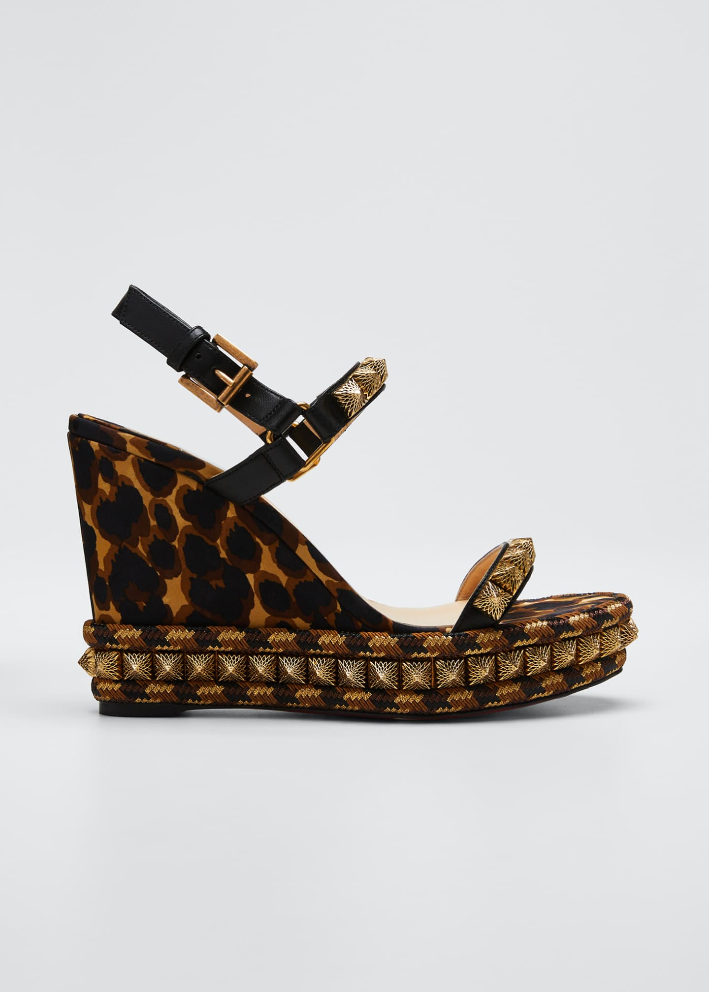 Christian Louboutin Pira Ryad Leopard Red Sole Espadrilles