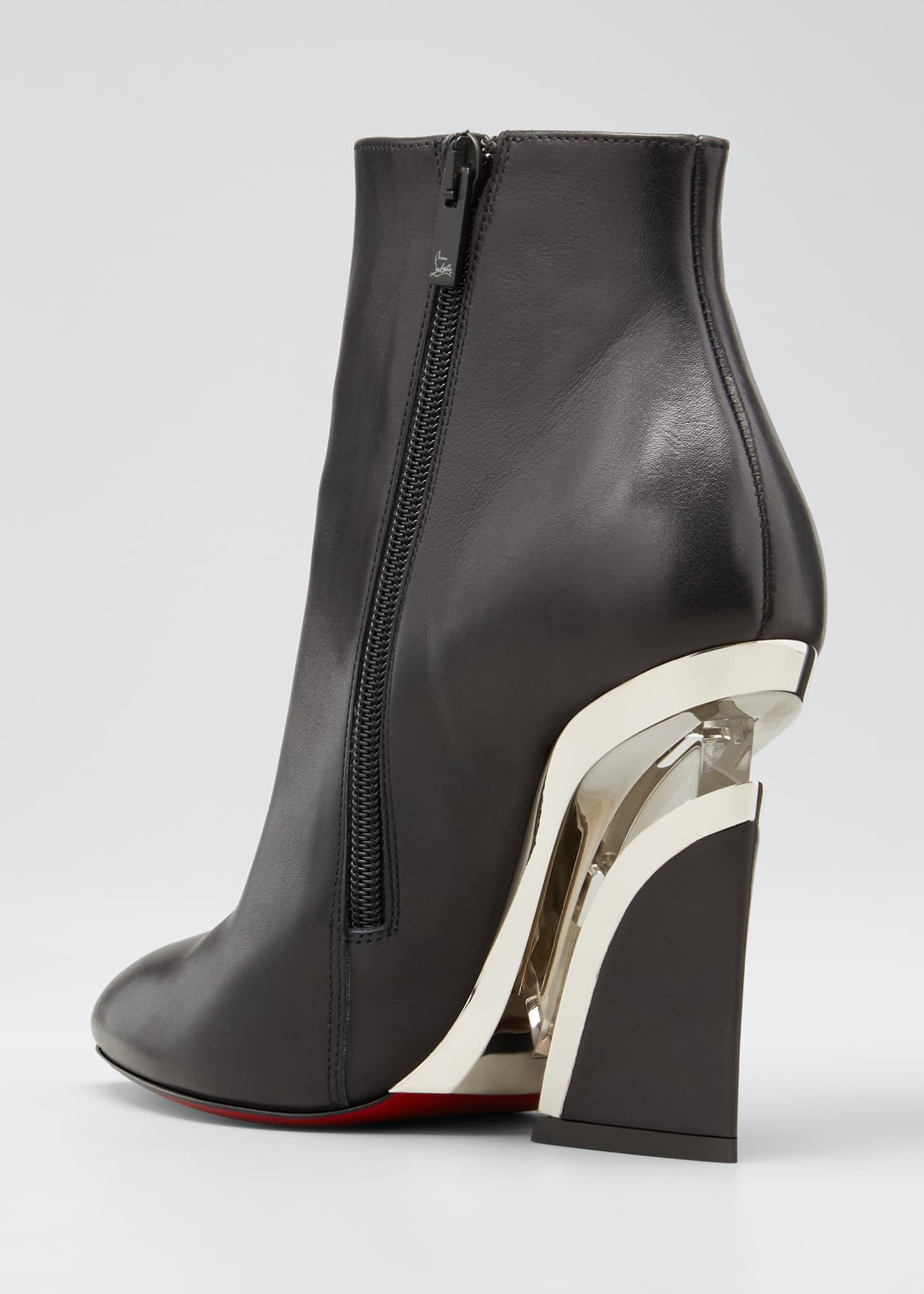 Image 4 of 5: Leviti Zip Red Sole Booties