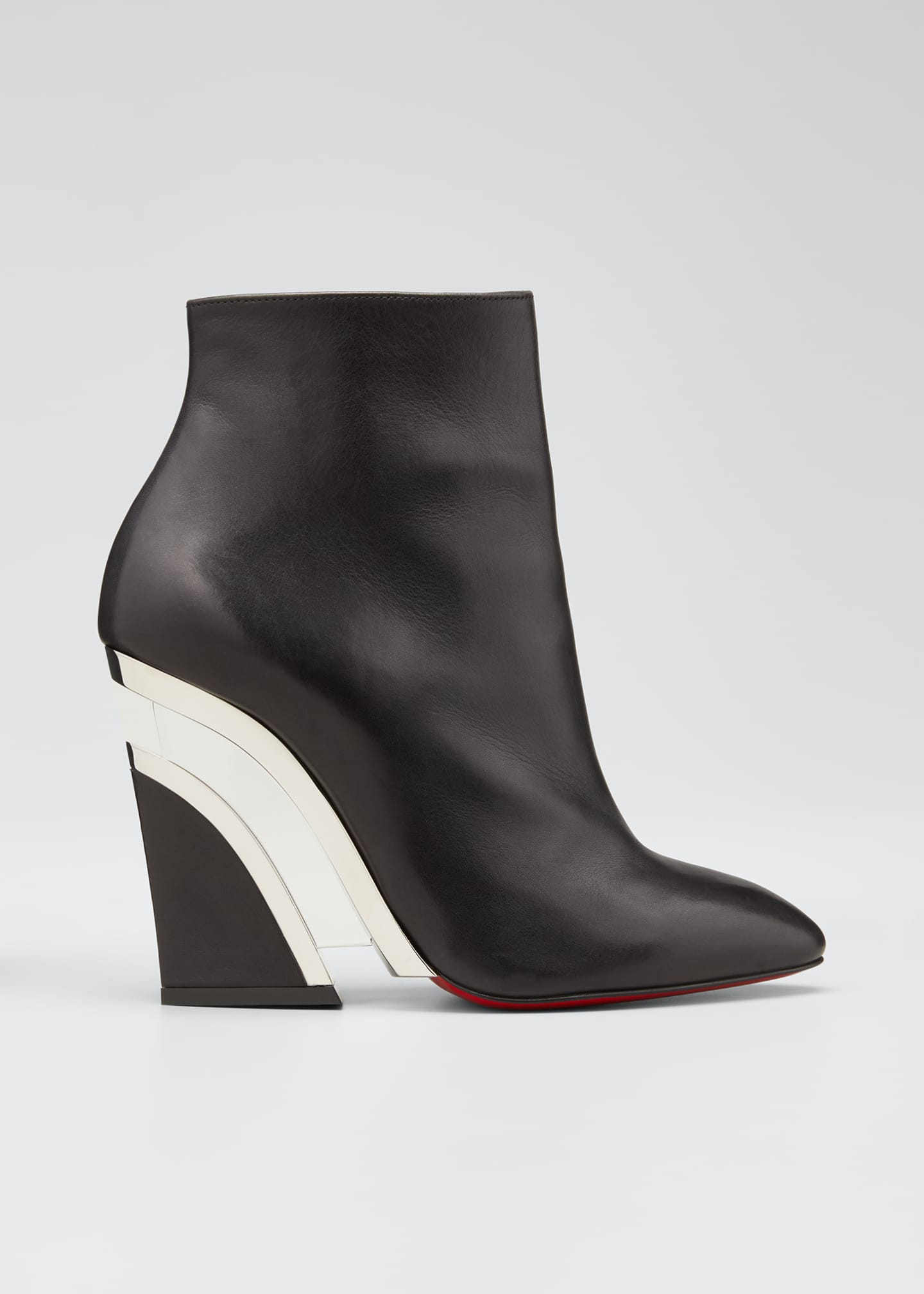 Image 1 of 5: Leviti Zip Red Sole Booties