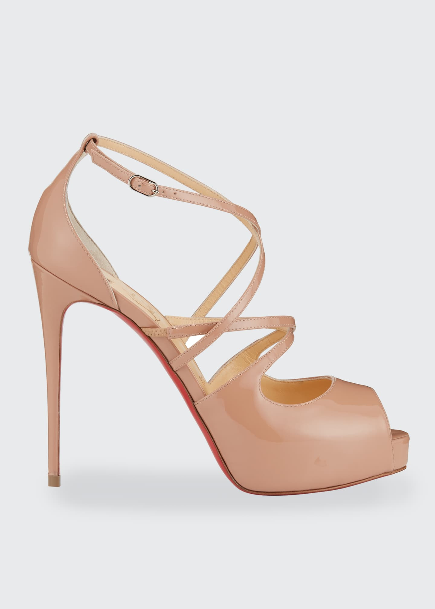 Holly Peep-Toe Strappy Red Sole Sandals