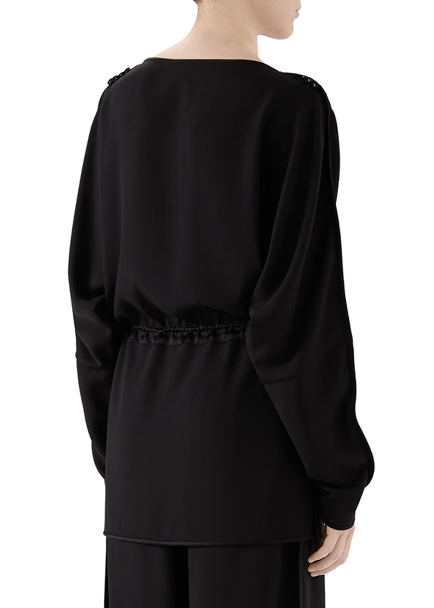 Image 3 of 4: Satin Tunic Top