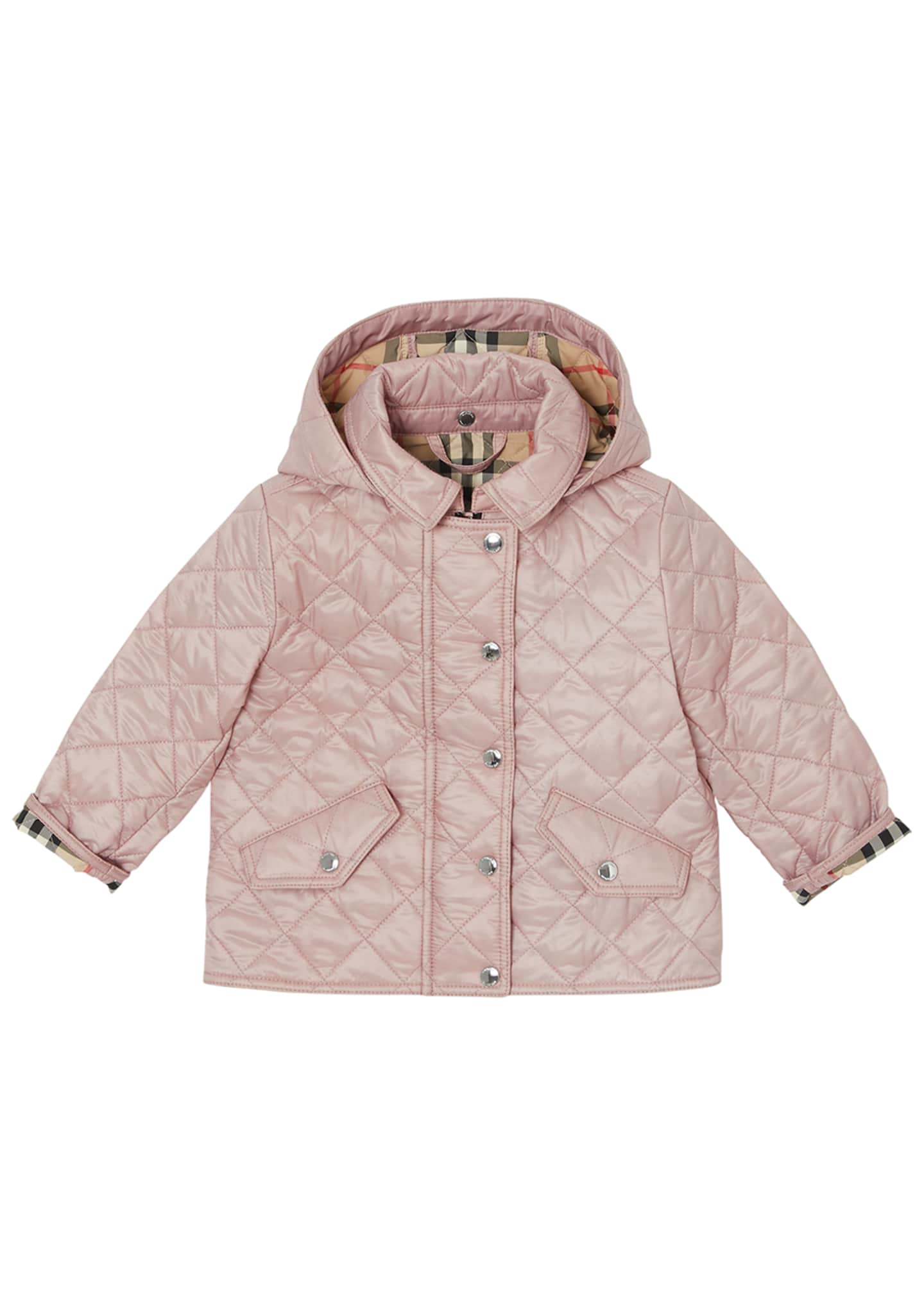 Burberry Ilana Quilted Hooded Jacket, Size 6M-2