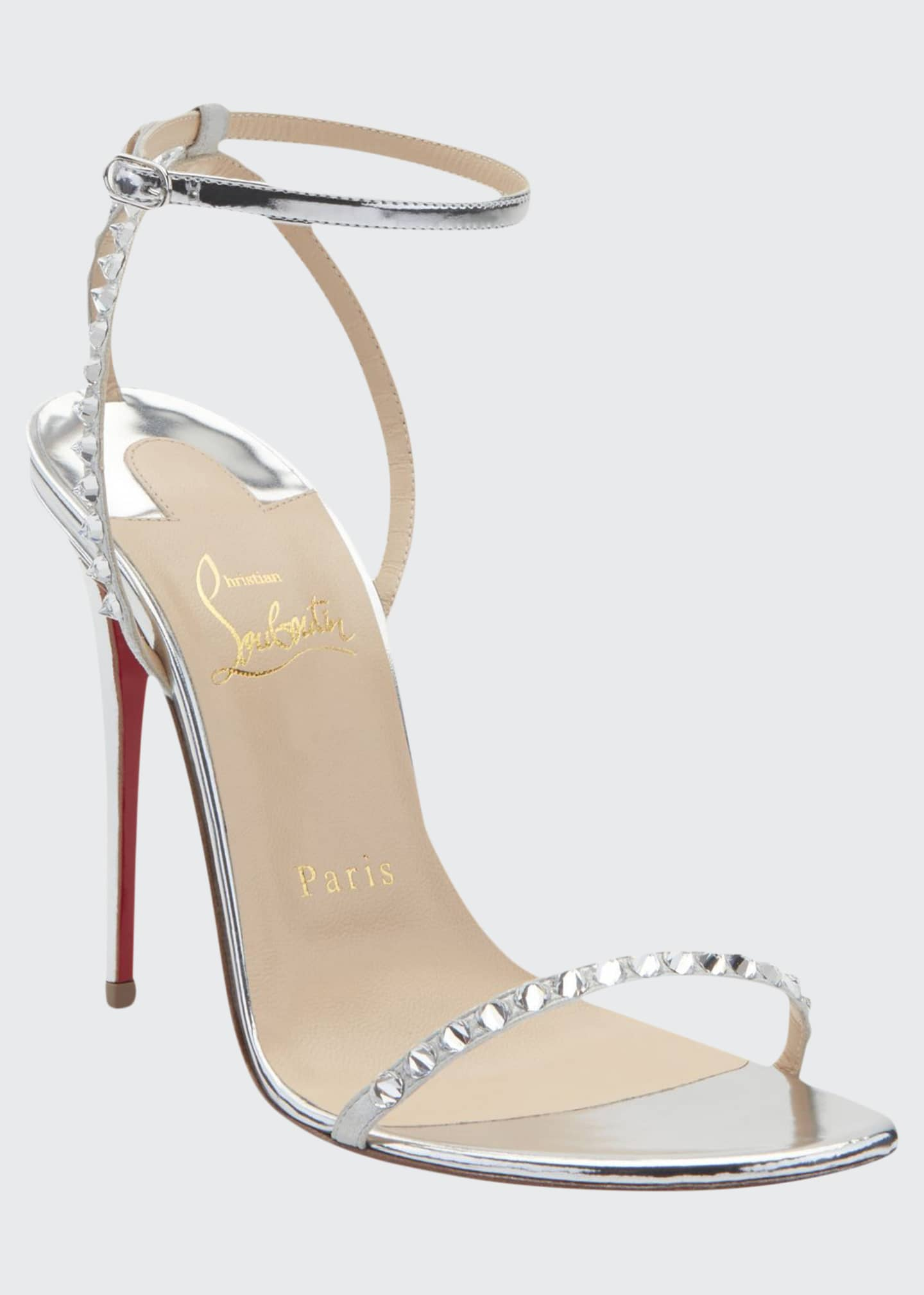 Christian Louboutin Planetava Spike Red Sole Sandals