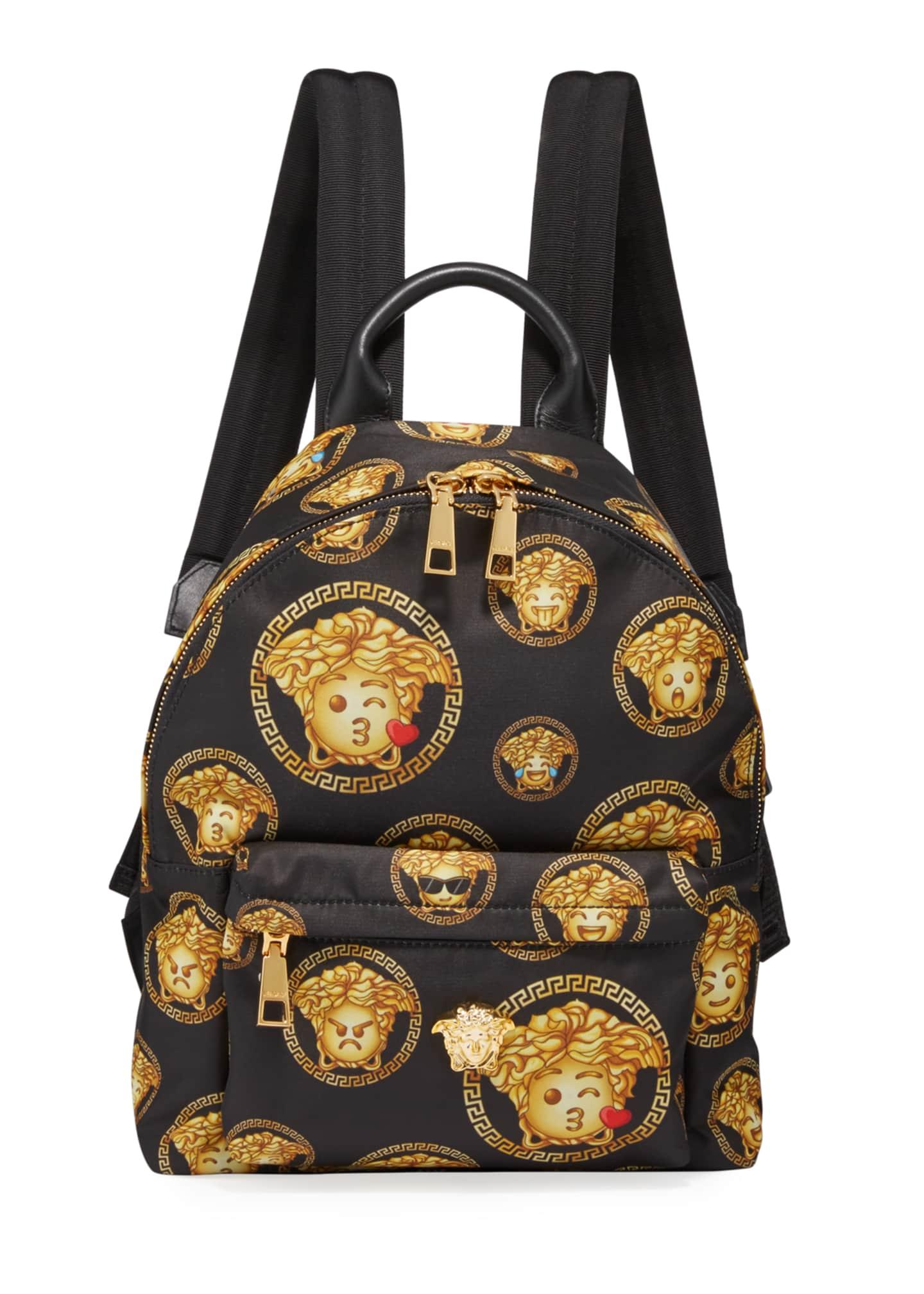 Versace Kid's Medusa Emoji Backpack