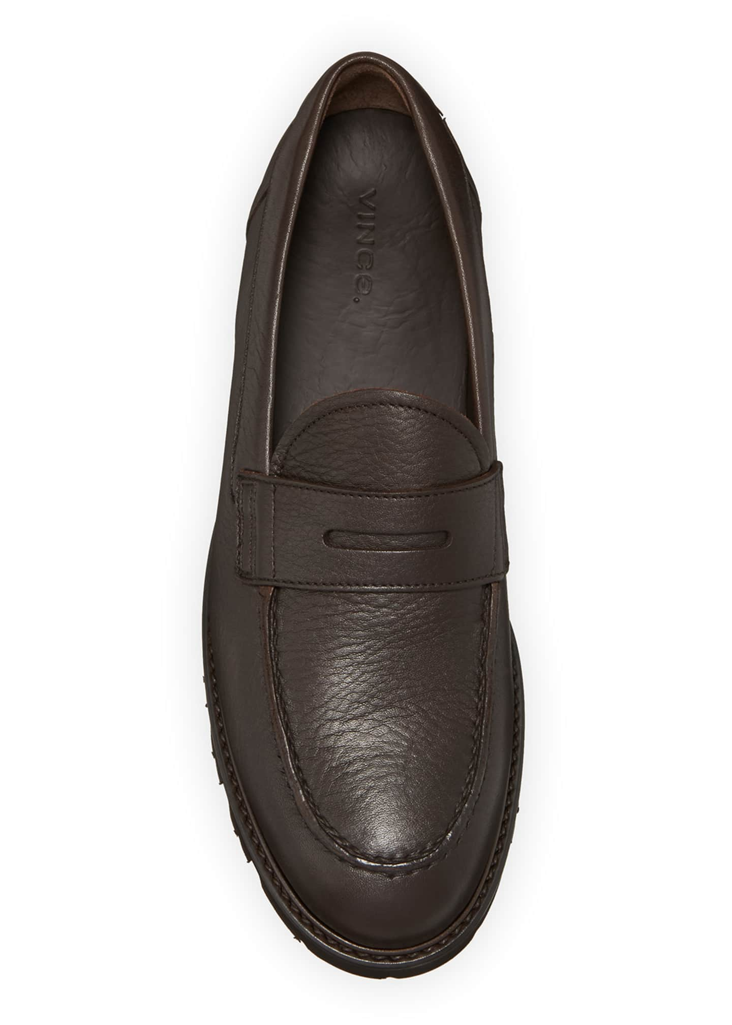 Image 2 of 5: Men's Comrade Leather Lug-Sole Penny Loafers