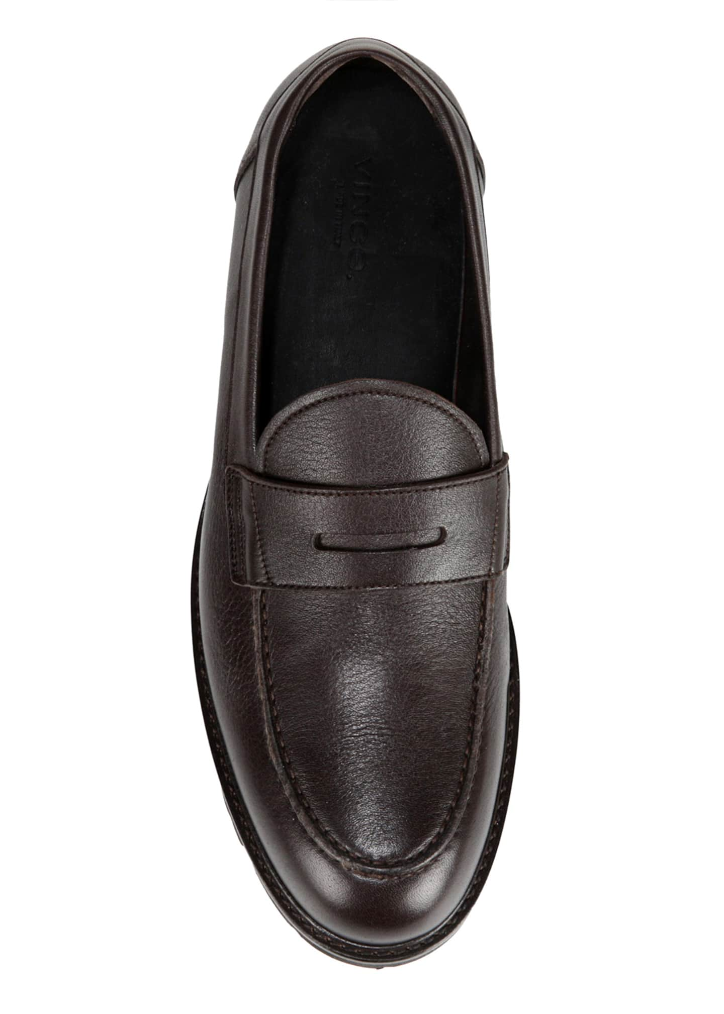 Image 4 of 5: Men's Comrade Leather Lug-Sole Penny Loafers