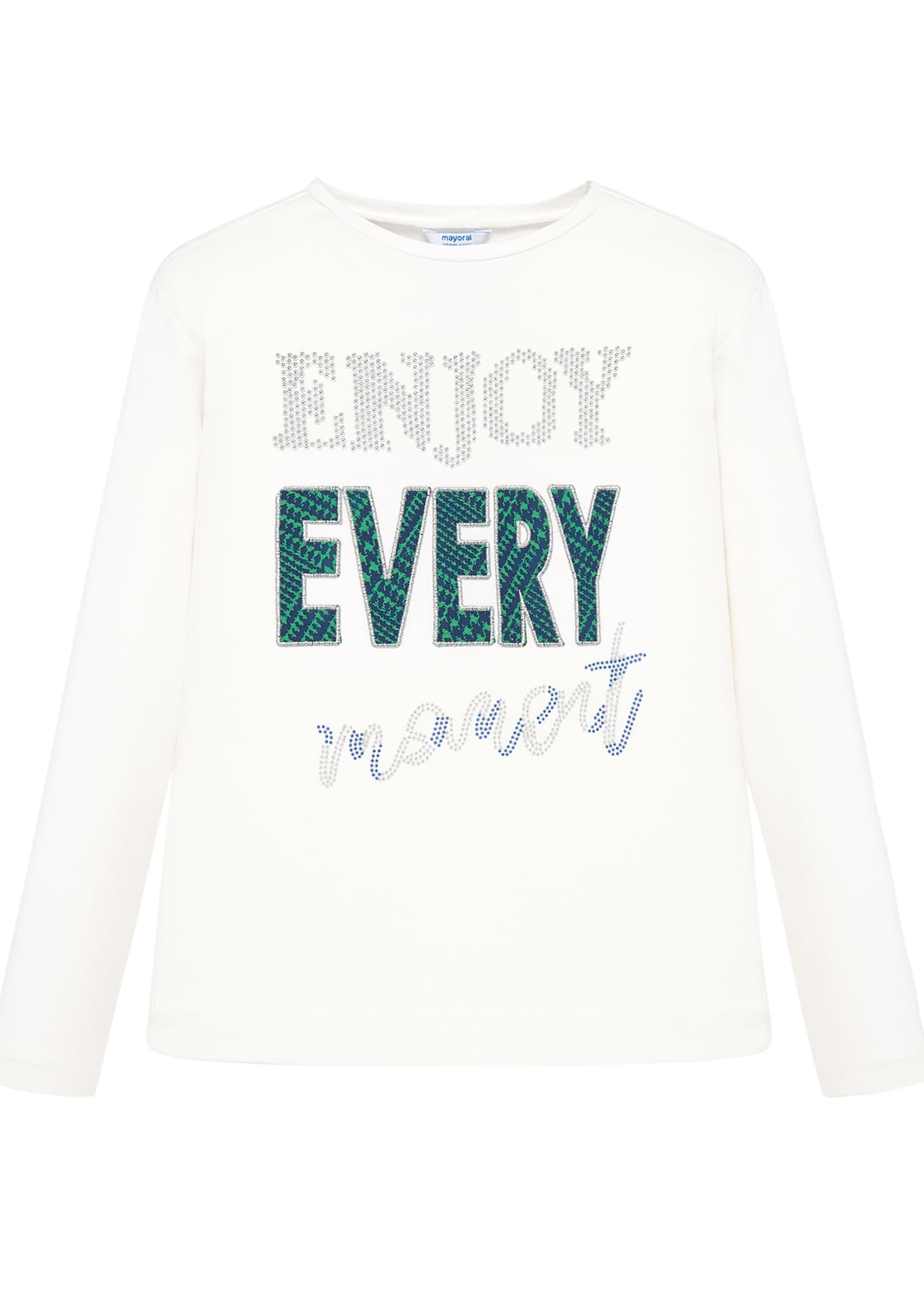 Mayoral Girl's Enjoy Every Moment Long-Sleeve Tee, Size
