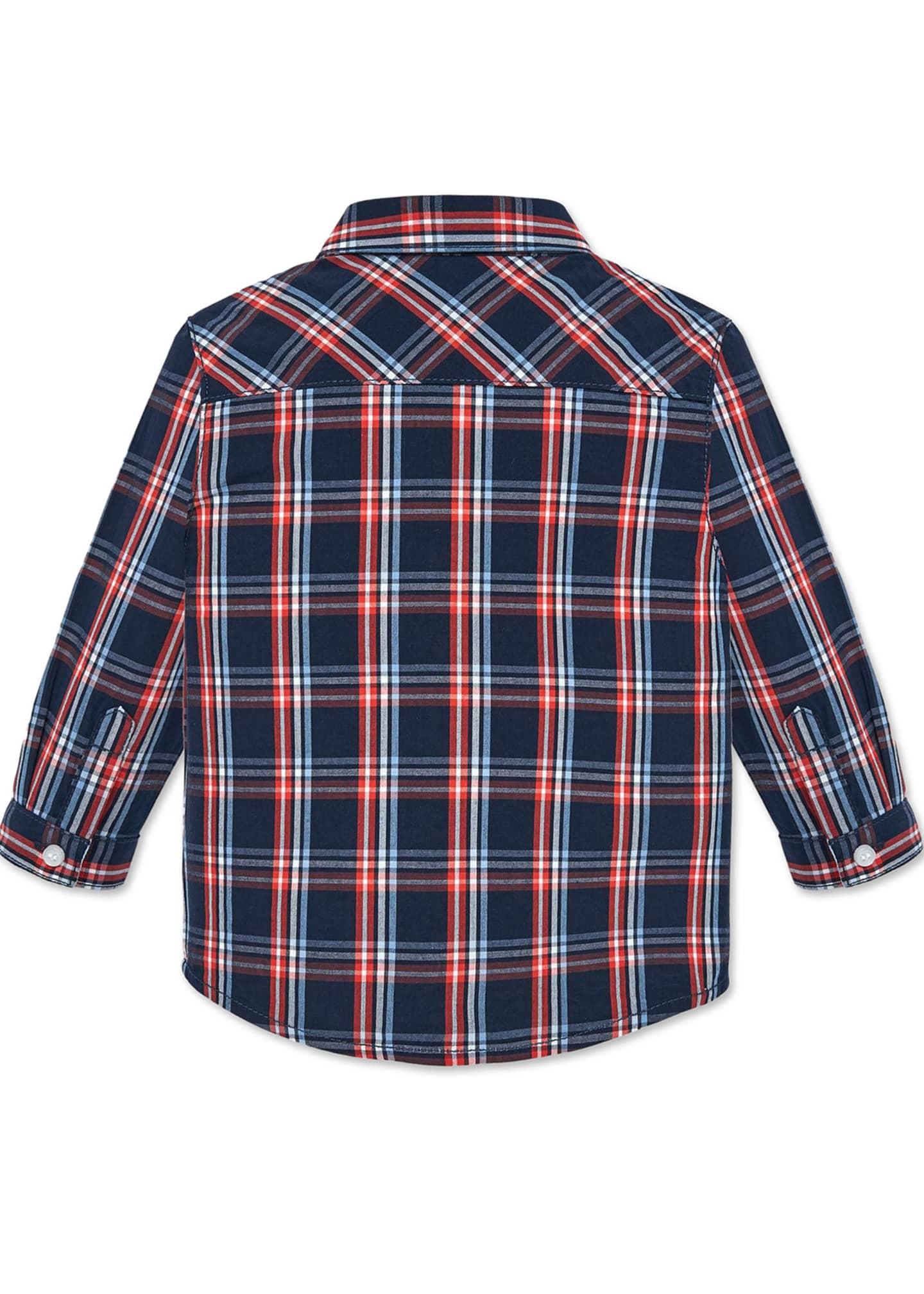 Image 3 of 3: Boy's Plaid Button Up Shirt, Size 12-36 Months