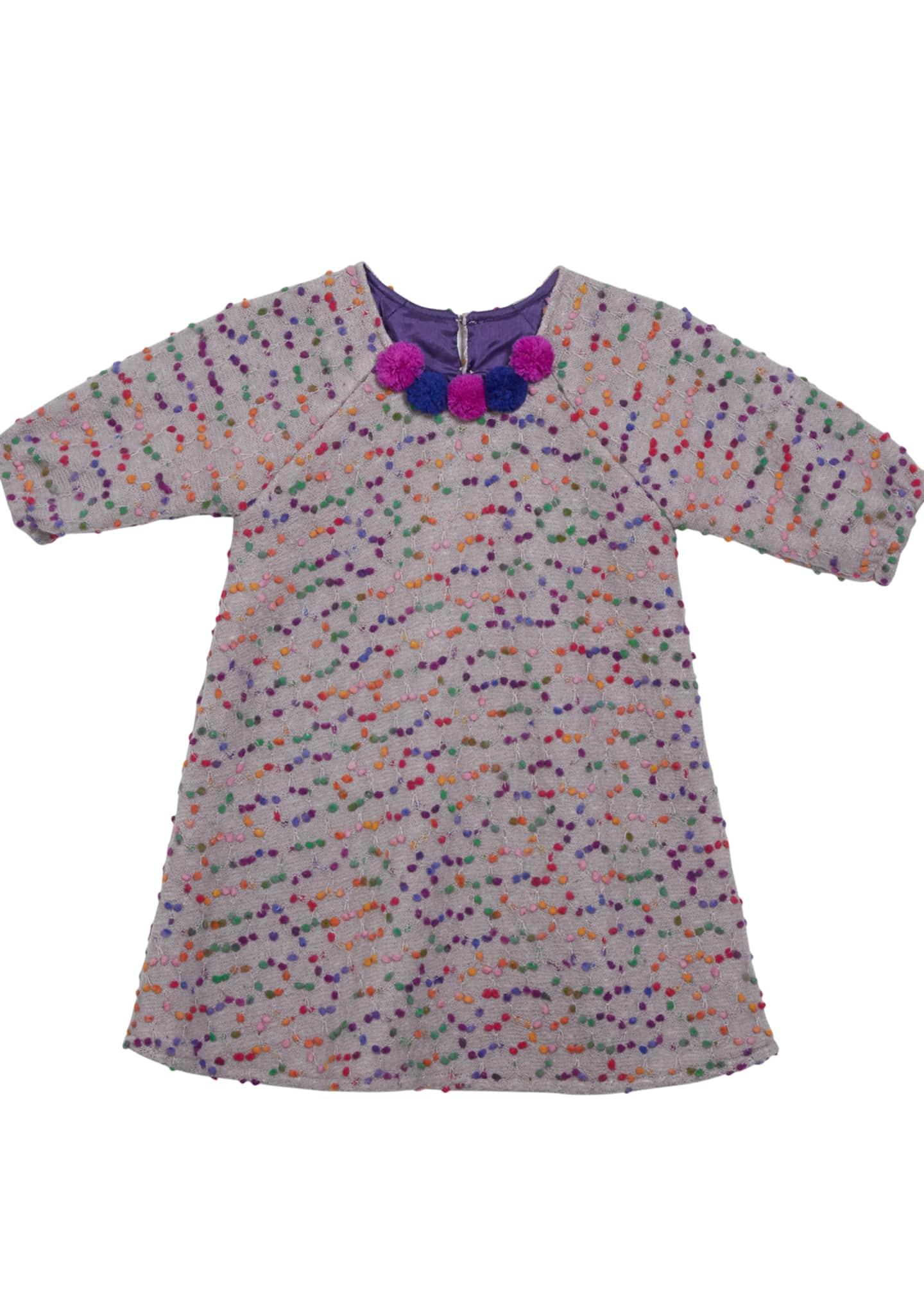 Isabel Garreton Confetti-Dotted A-Line Dress, Size 4-6