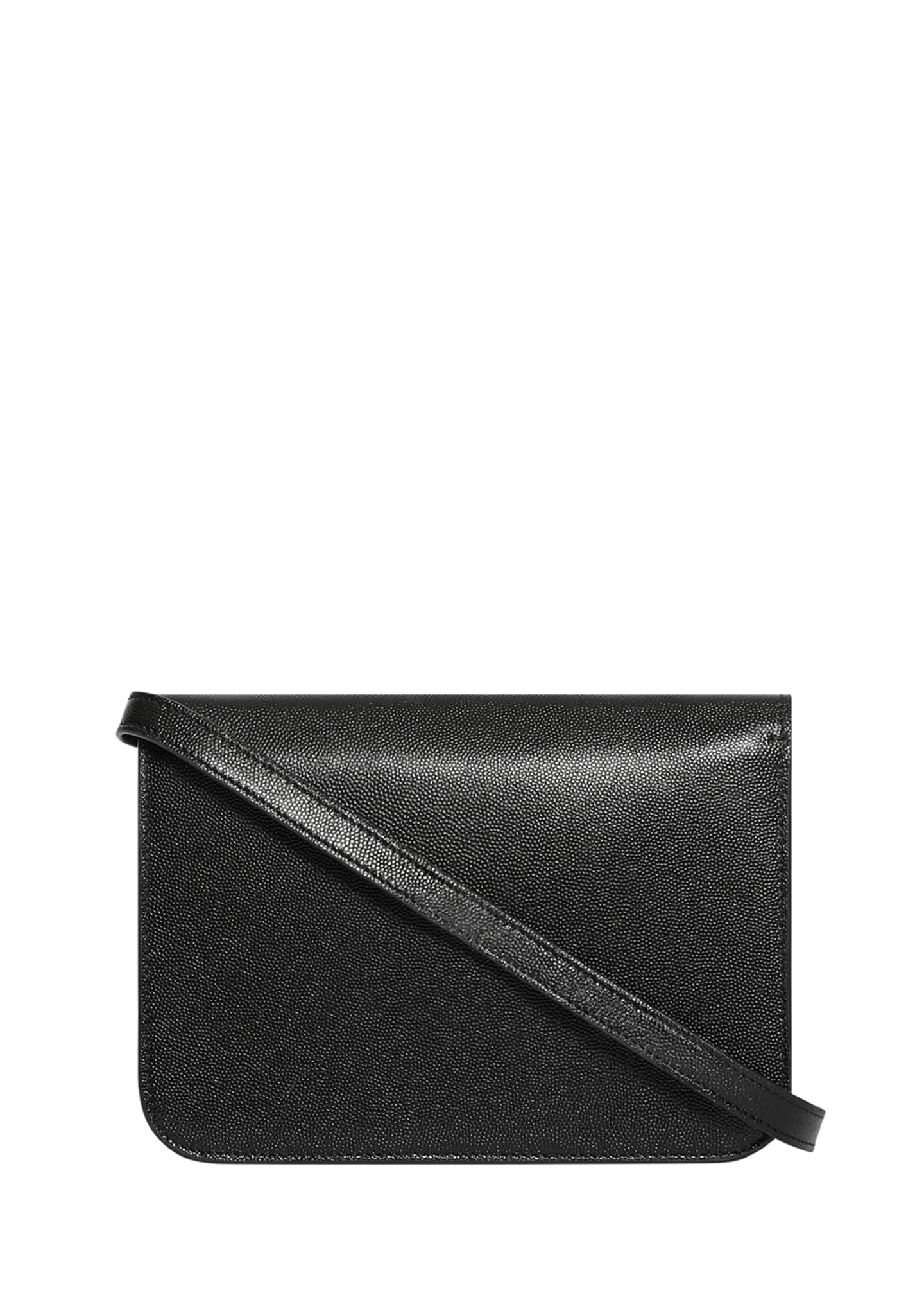Image 3 of 4: Grainy Caviar Small Crossbody Bag