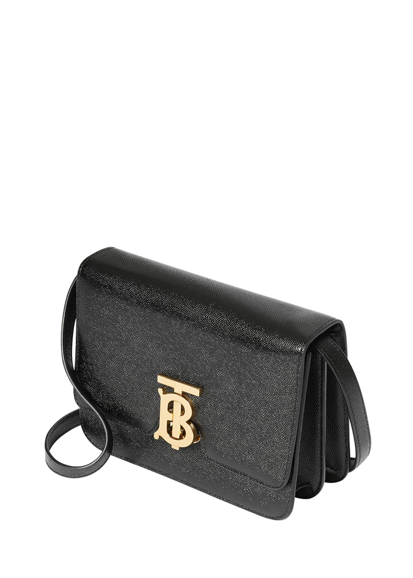Image 4 of 4: Grainy Caviar Small Crossbody Bag