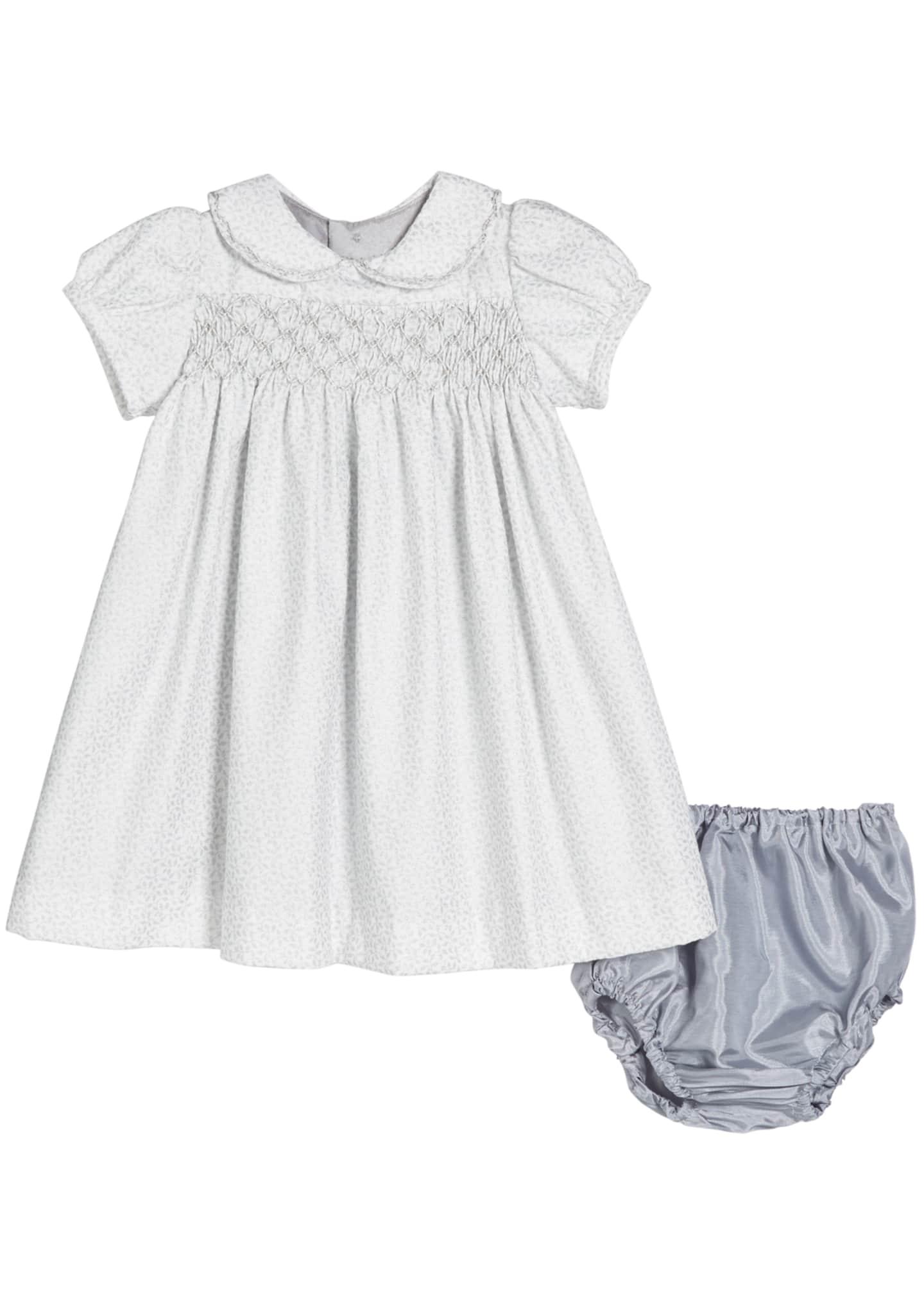 Isabel Garreton Vines-Print Short-Sleeve Dress, Size 2T-4T