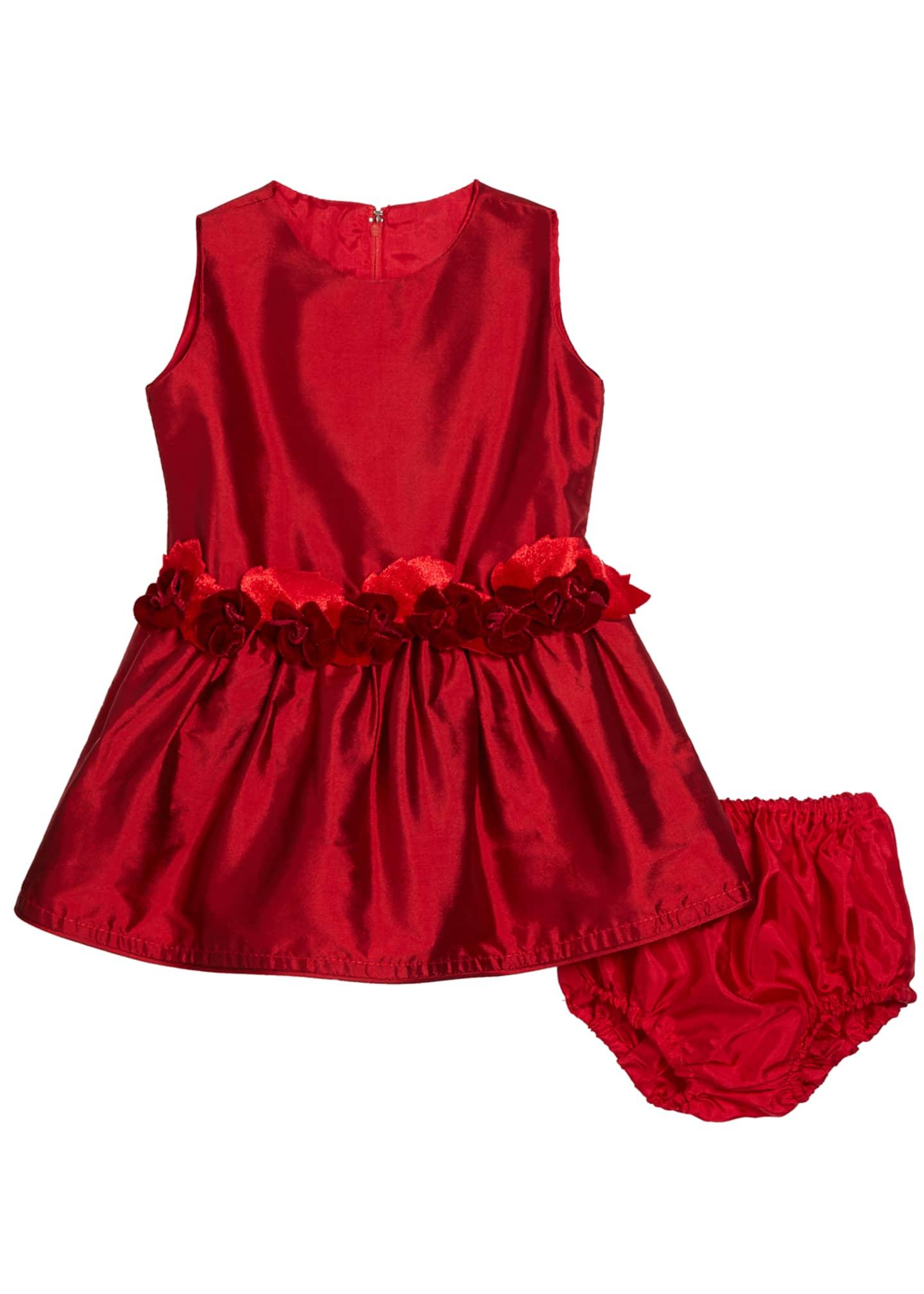 Isabel Garreton Girls' Silk Drop-Waist Dress, Size 12-24