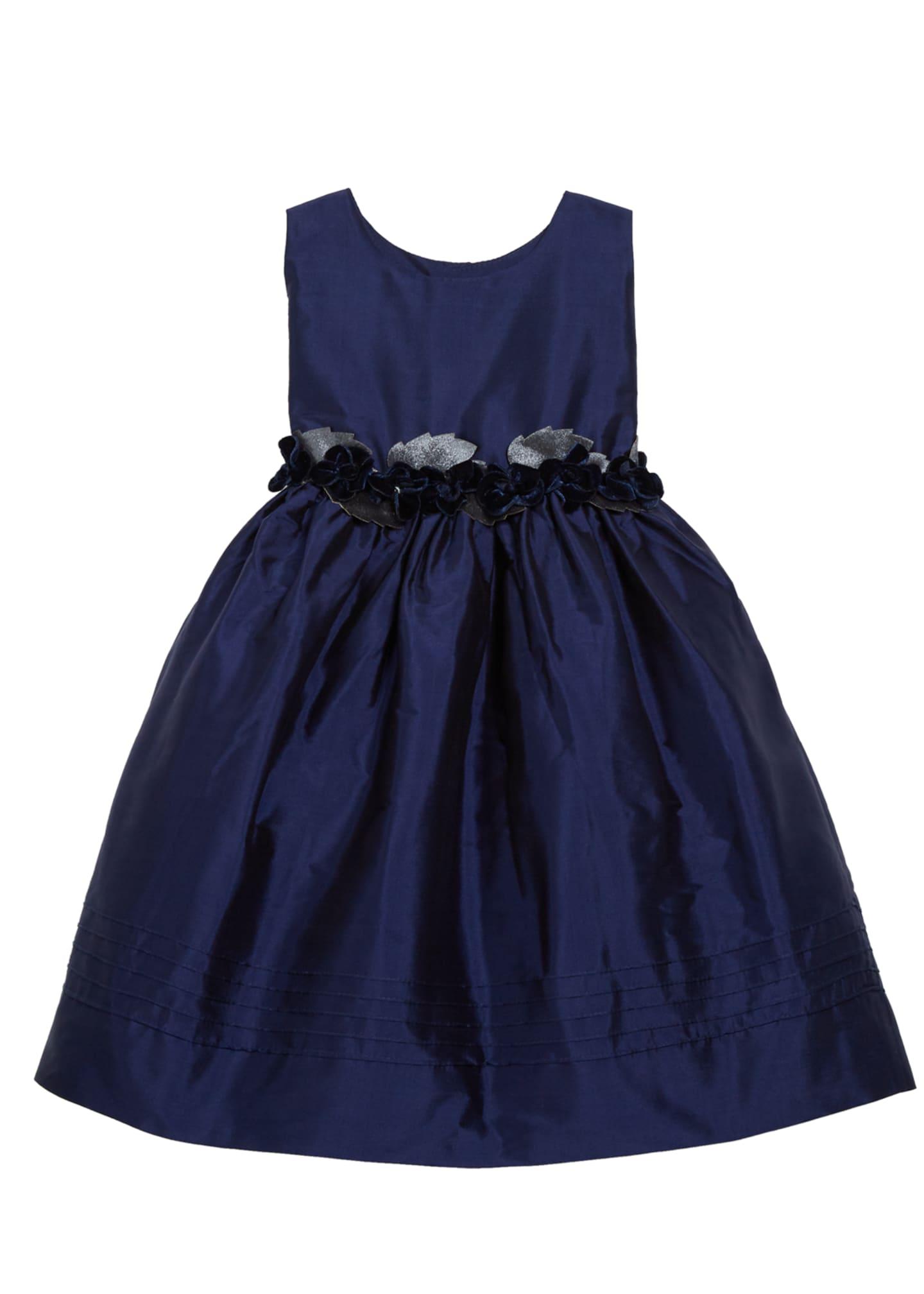 Isabel Garreton Sleeveless Silk Dress with Velvet Rose