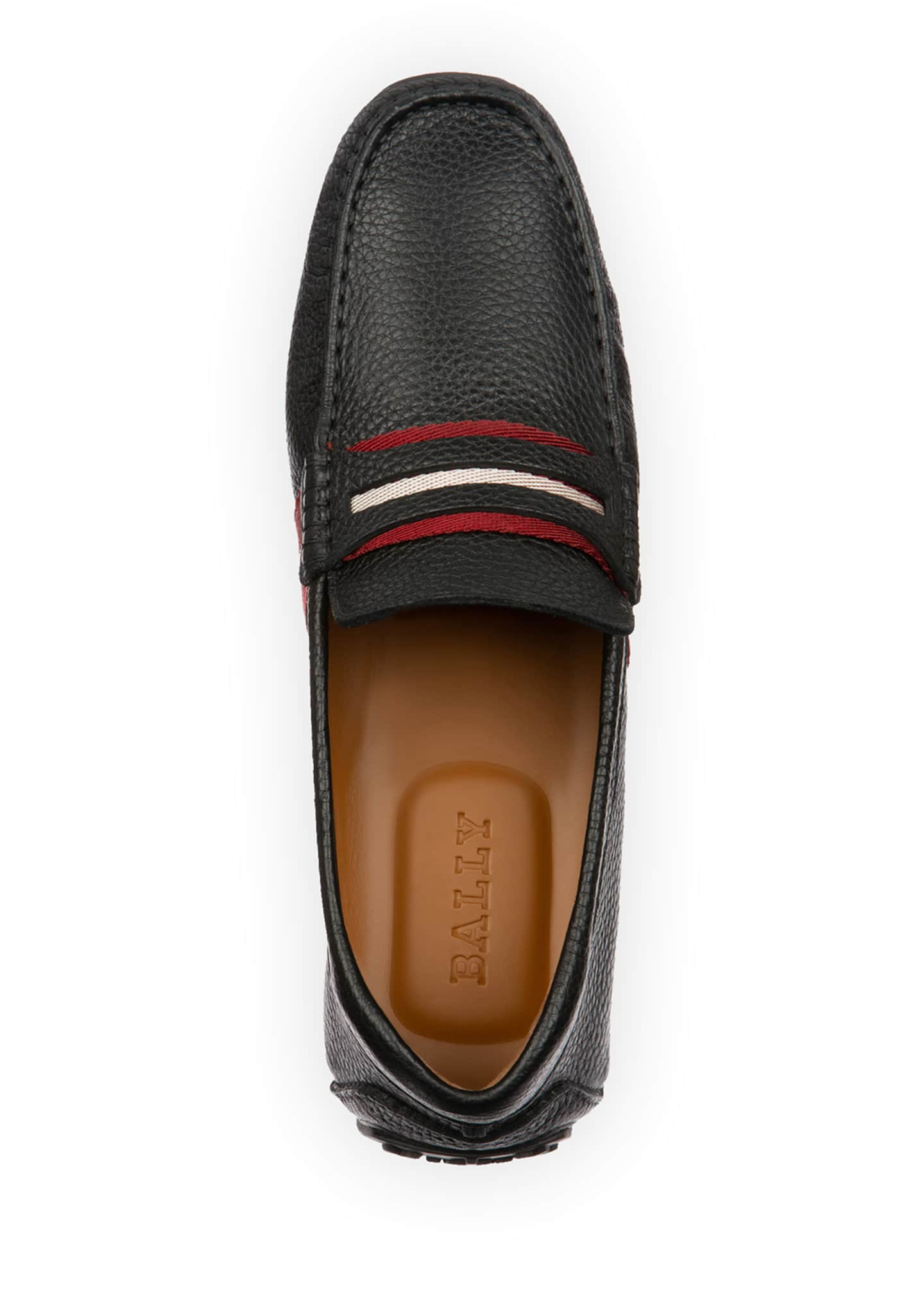 Image 2 of 4: Men's Pietro Trainspotting Leather Penny Drivers