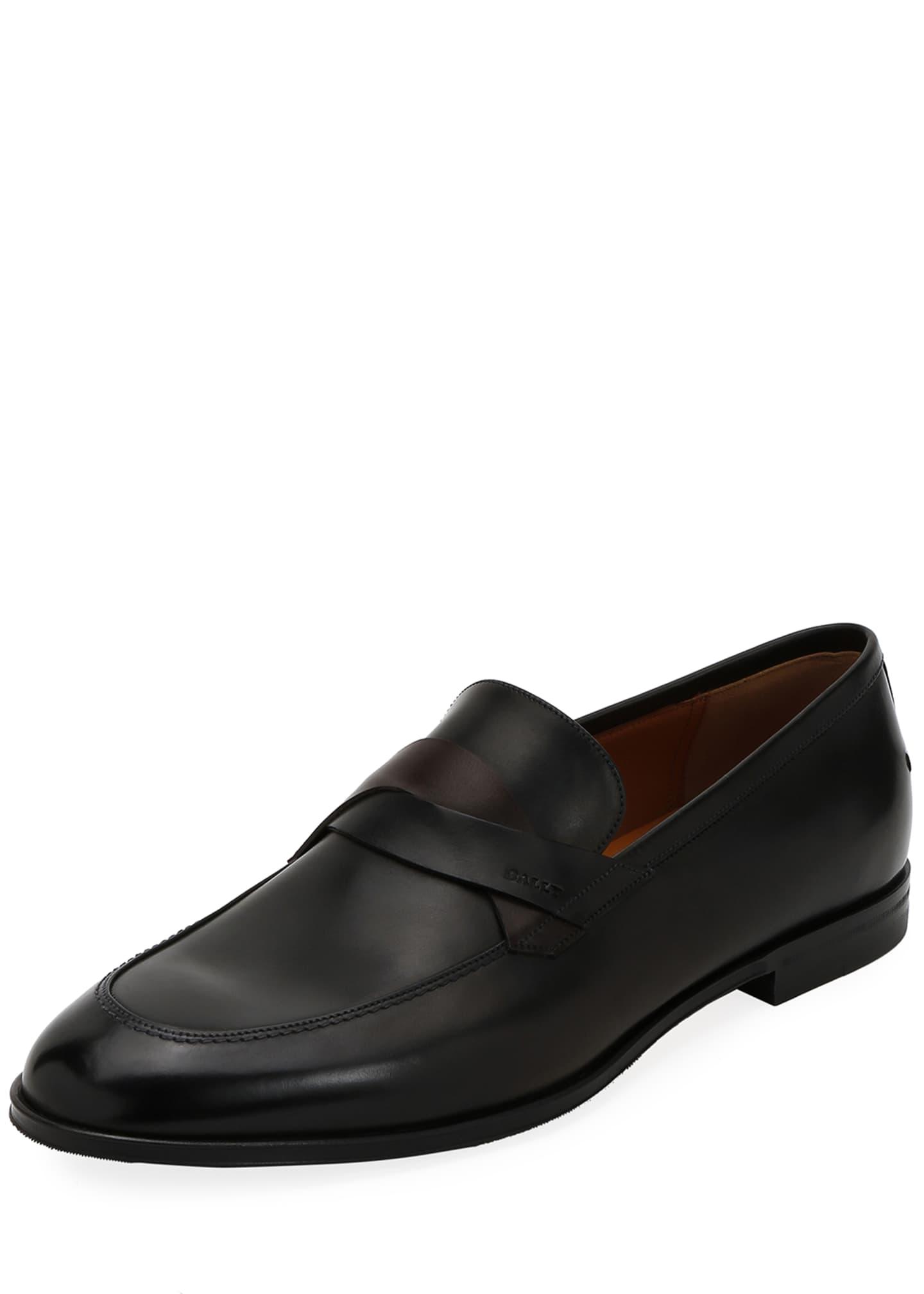 Bally Men's Welney Crisscross-Strap Leather Loafers