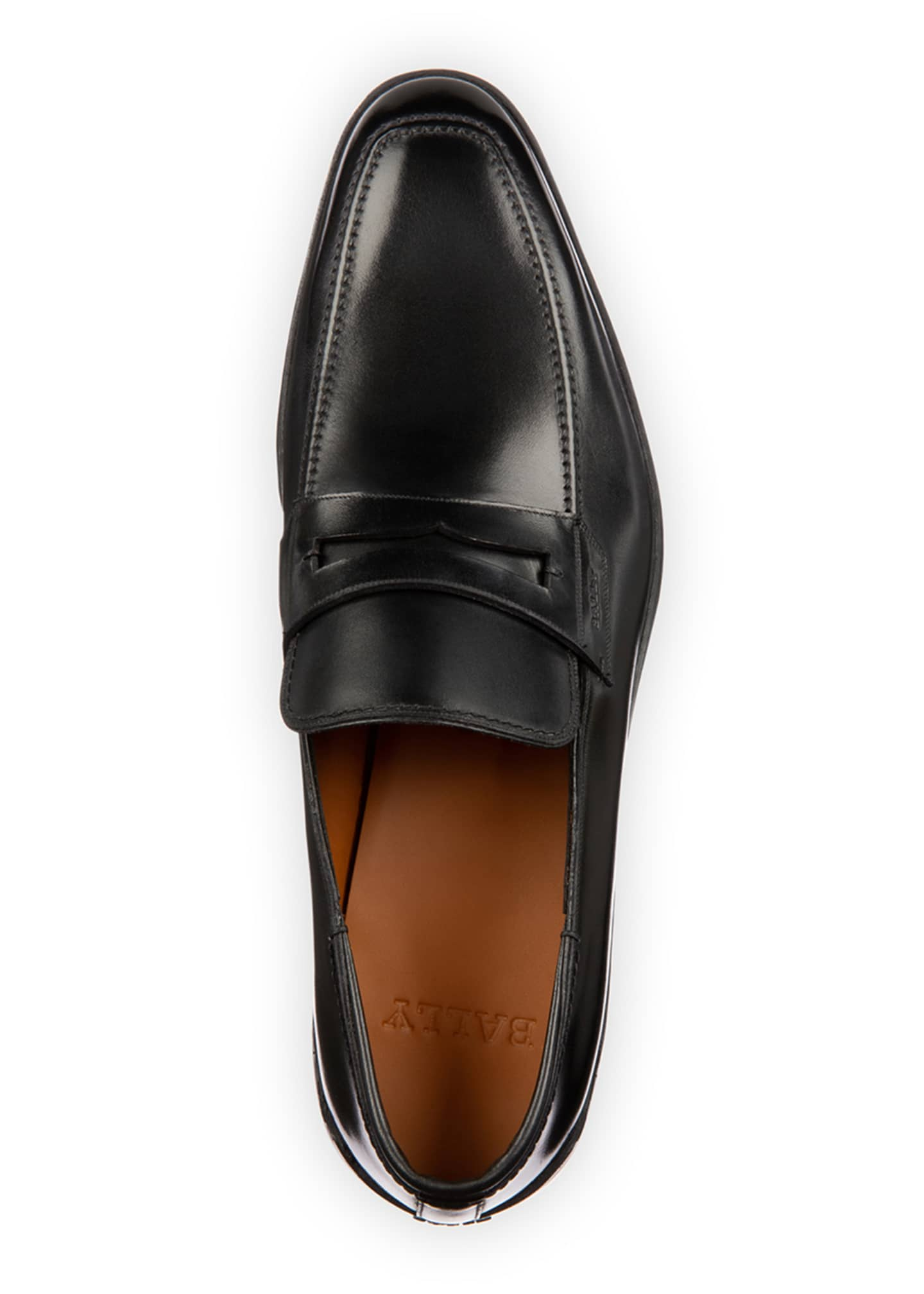 Image 2 of 4: Men's Relon Leather Penny Loafers