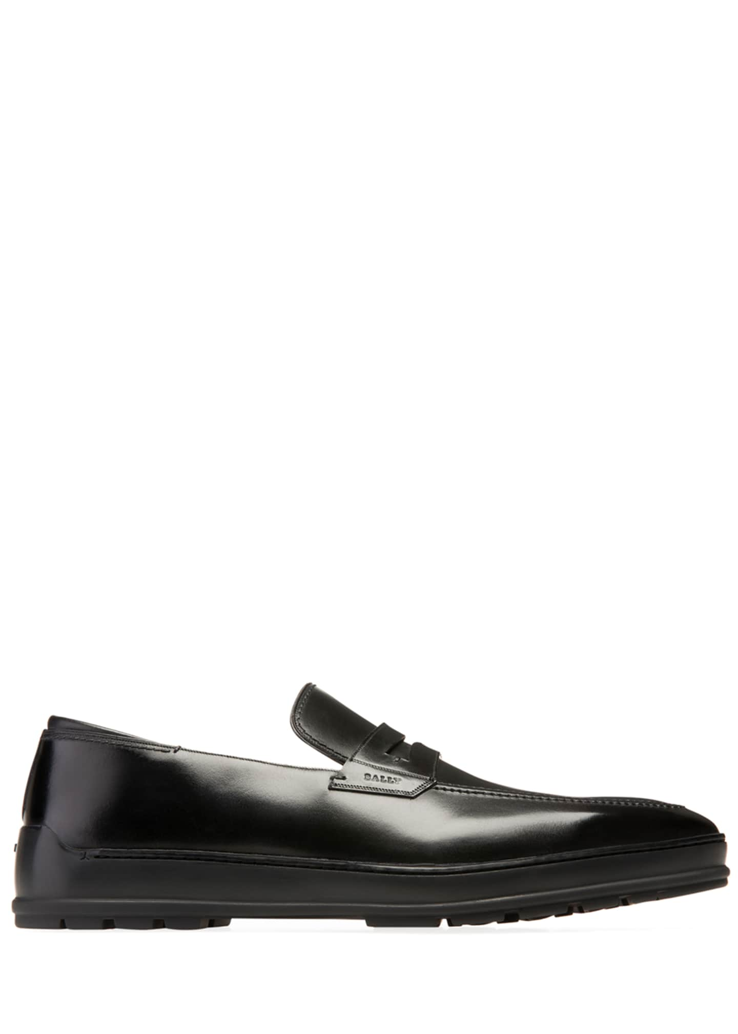 Image 3 of 4: Men's Relon Leather Penny Loafers