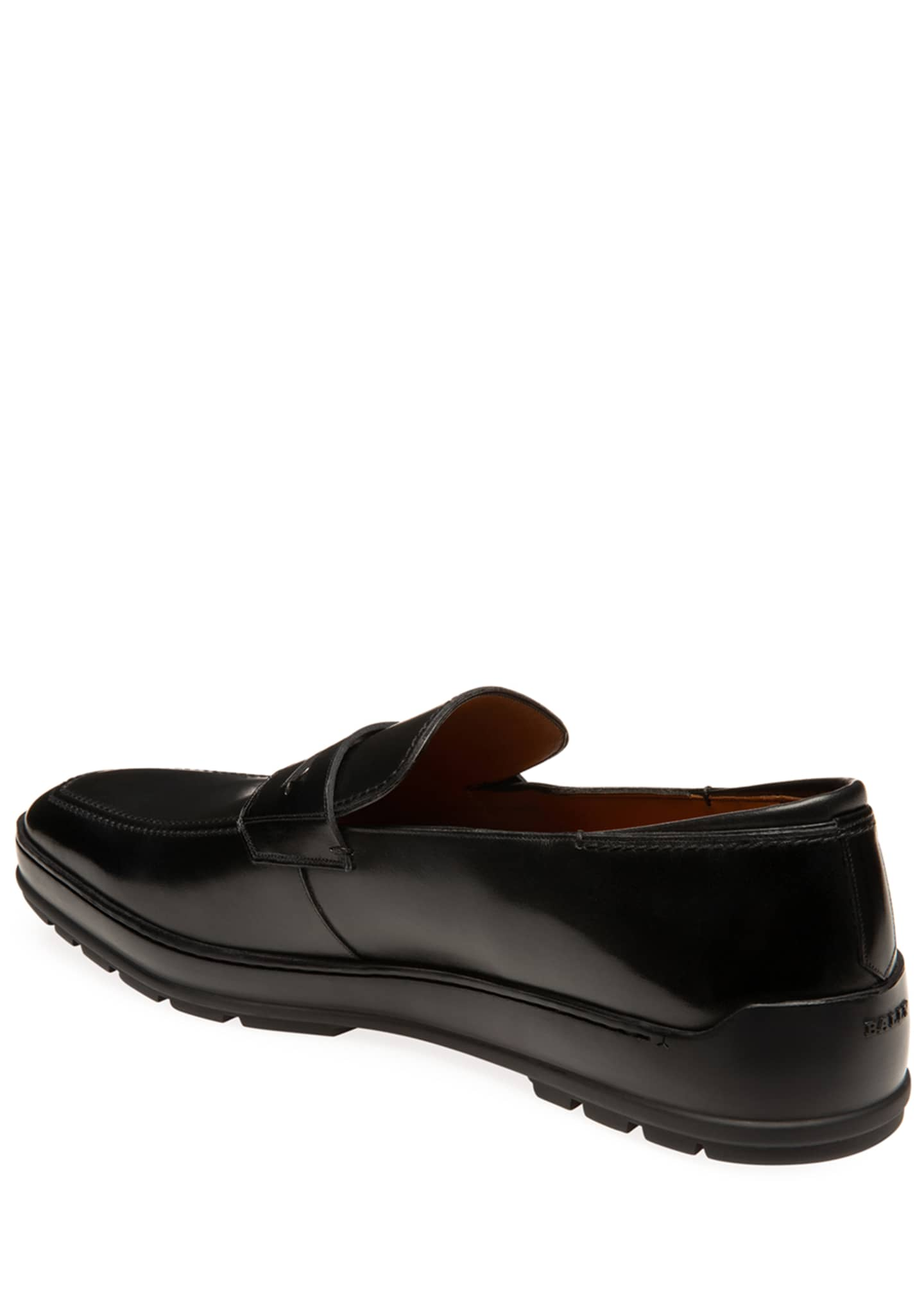 Image 4 of 4: Men's Relon Leather Penny Loafers